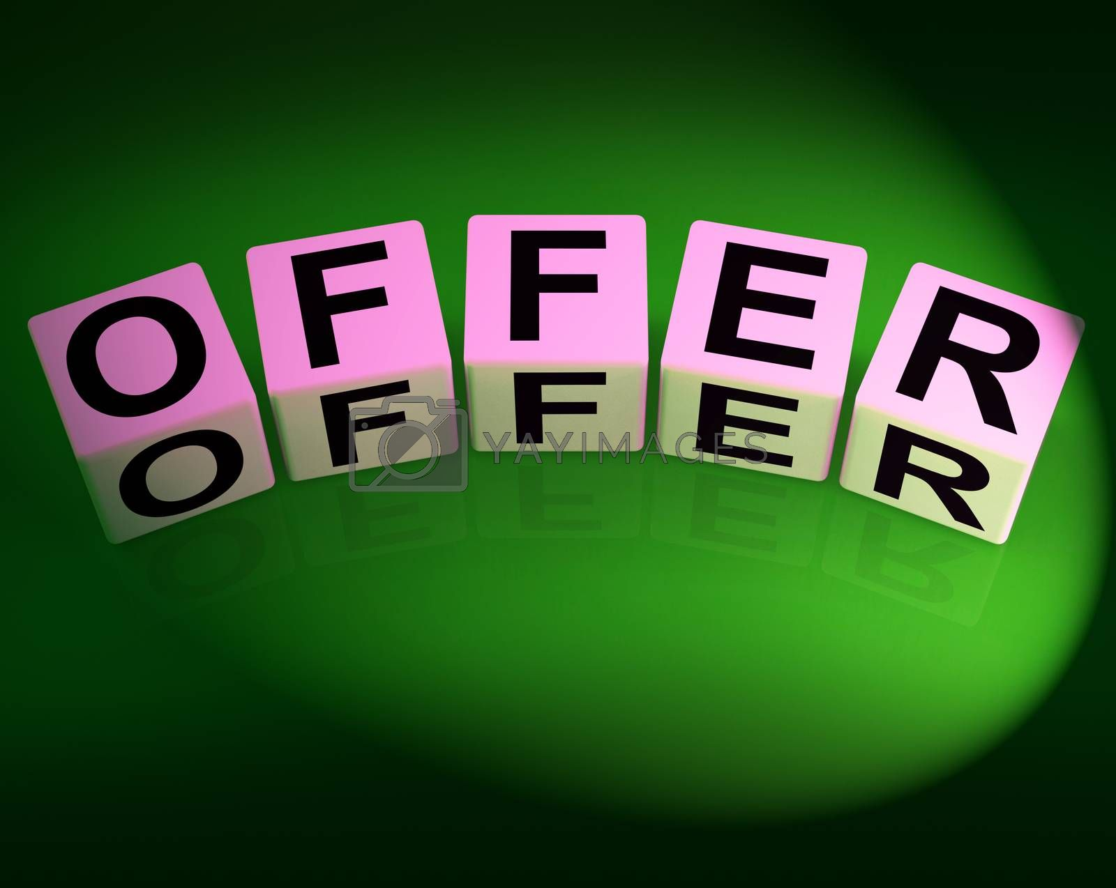 Offer Dice Mean Promote Propose and Submit by stuartmiles