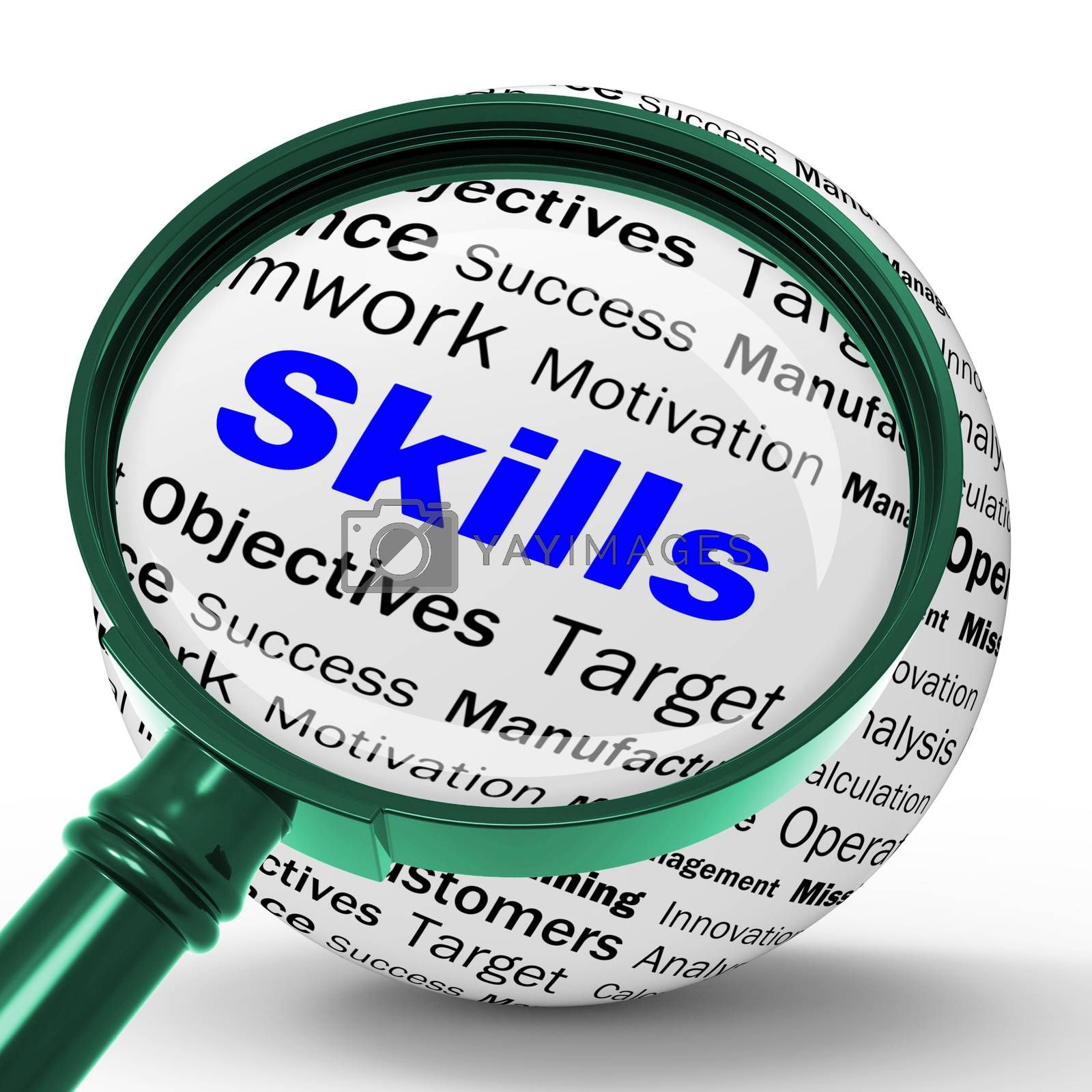 Skills Magnifier Definition Means Special Abilities Or Aptitudes by stuartmiles