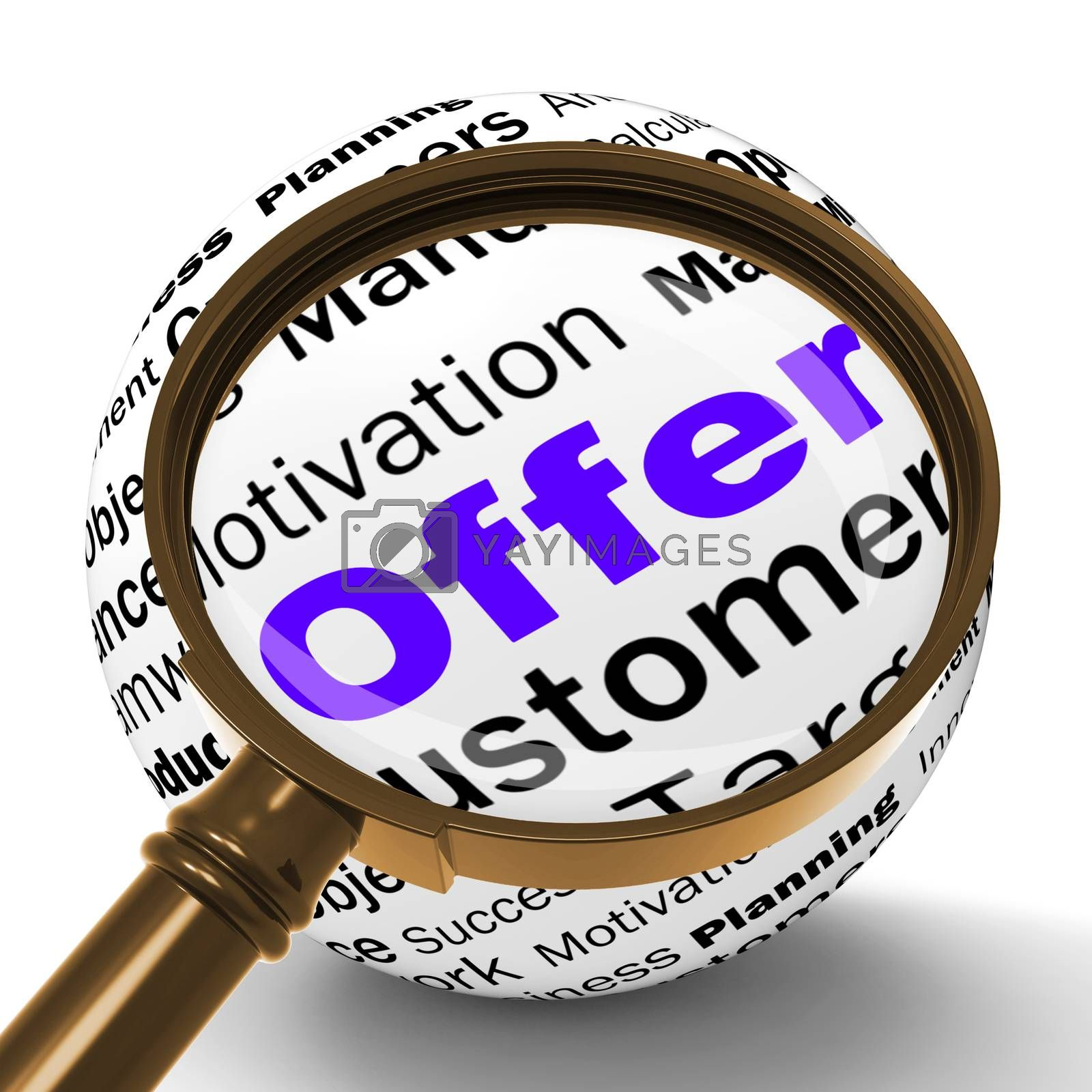Offer Magnifier Definition Shows Special Prices Or Promotions by stuartmiles