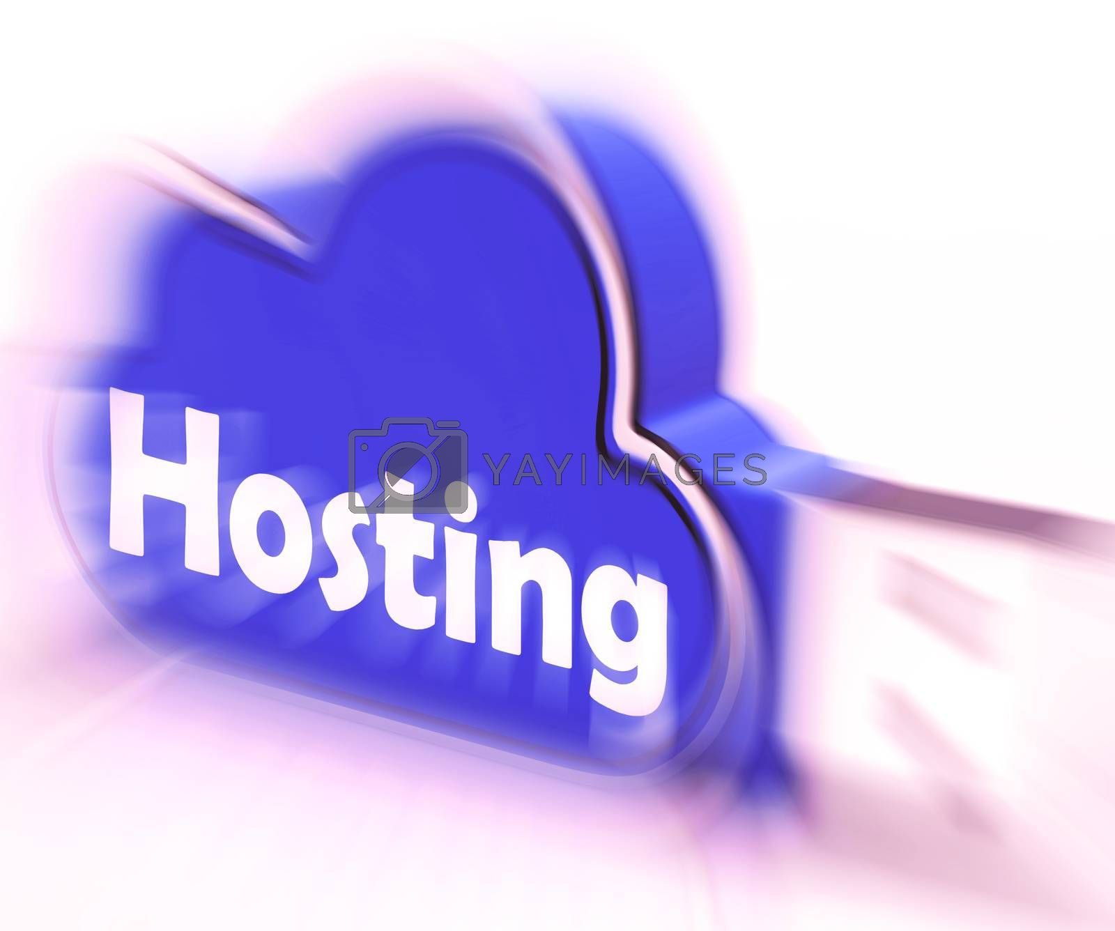 Hosting Cloud USB drive Shows Online Data Hosting by stuartmiles