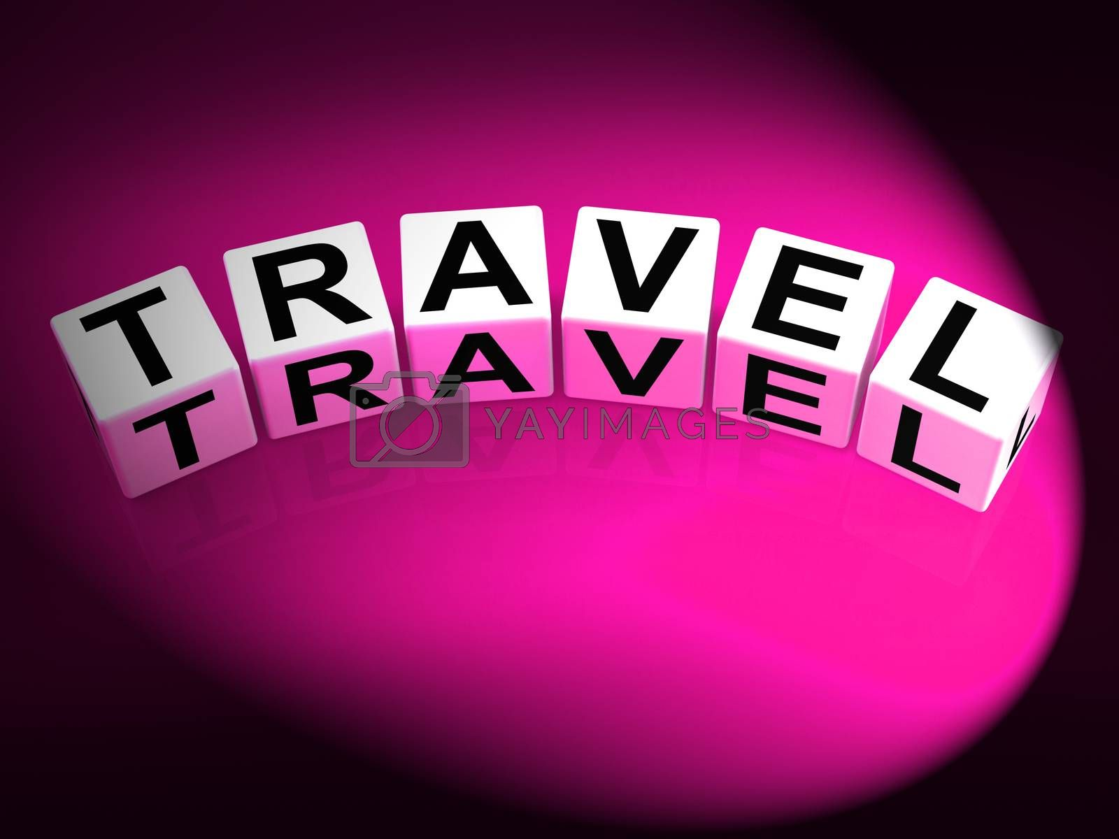 Travel Dice Show Traveling Touring and Trips by stuartmiles