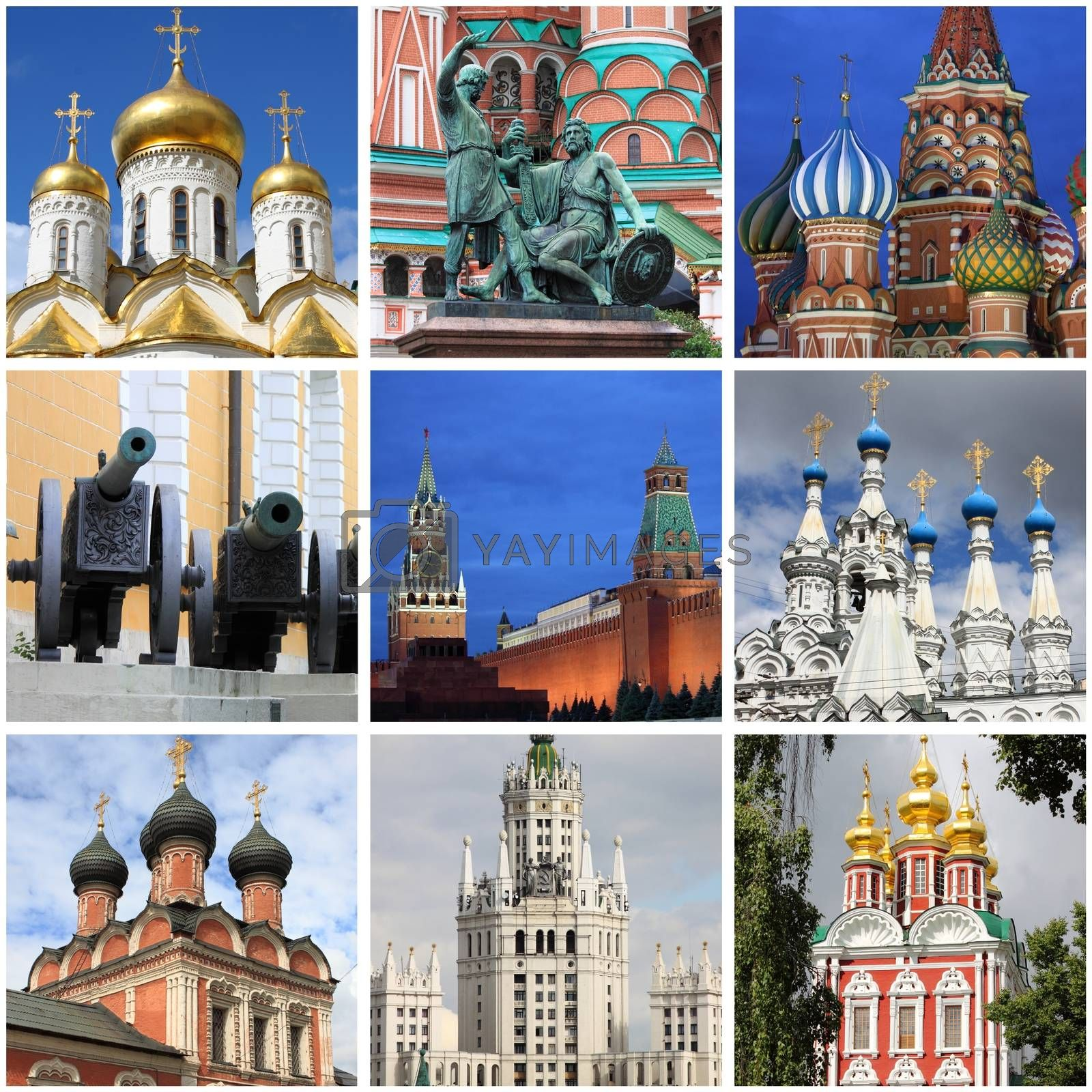 Moscow landmarks collage by alessandro0770