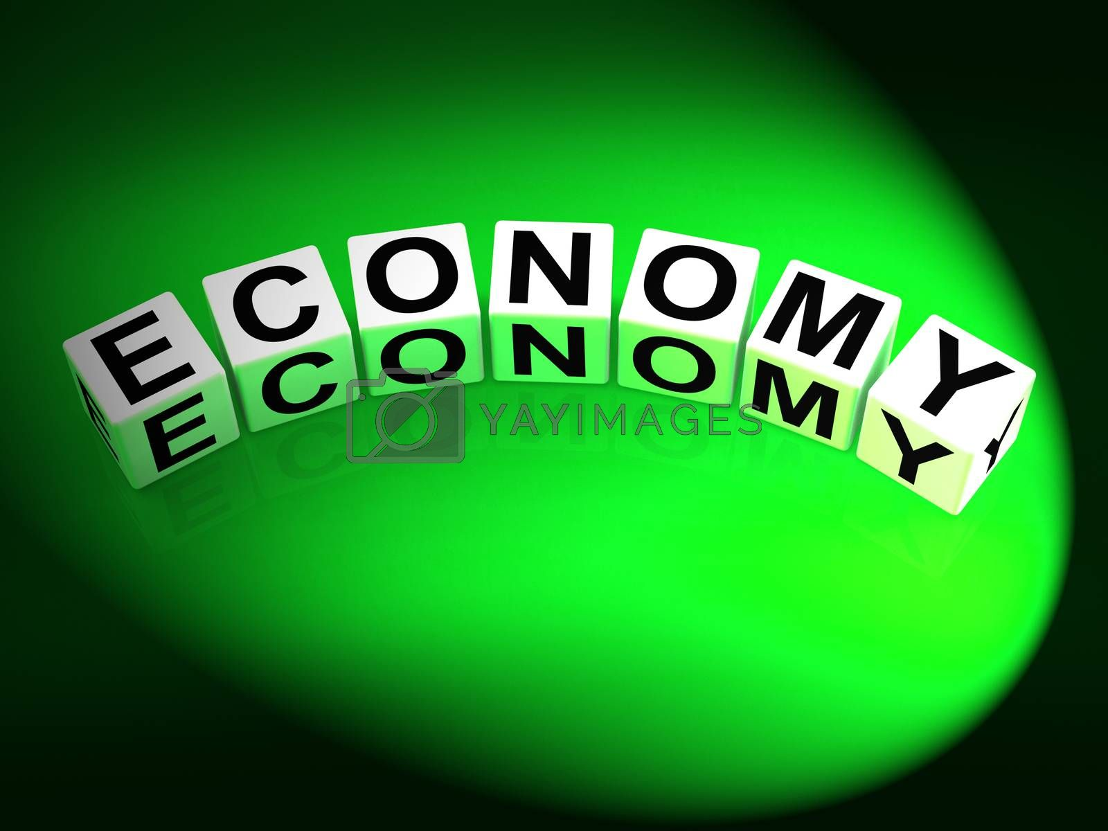 Economy Dice Show Monetary and Economic Predictions by stuartmiles