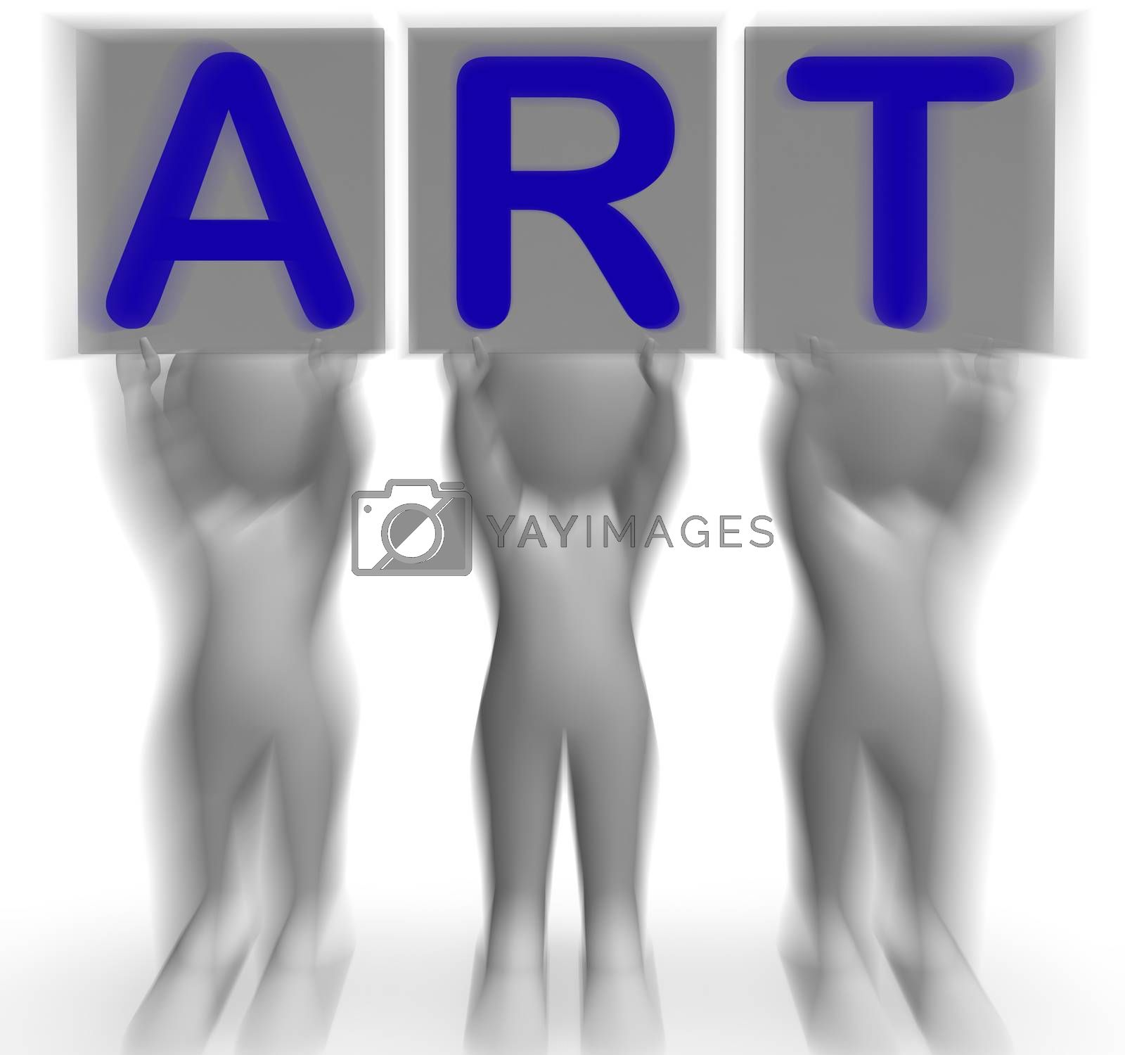 Art Placards Means Artistic Paintings And Drawings by stuartmiles