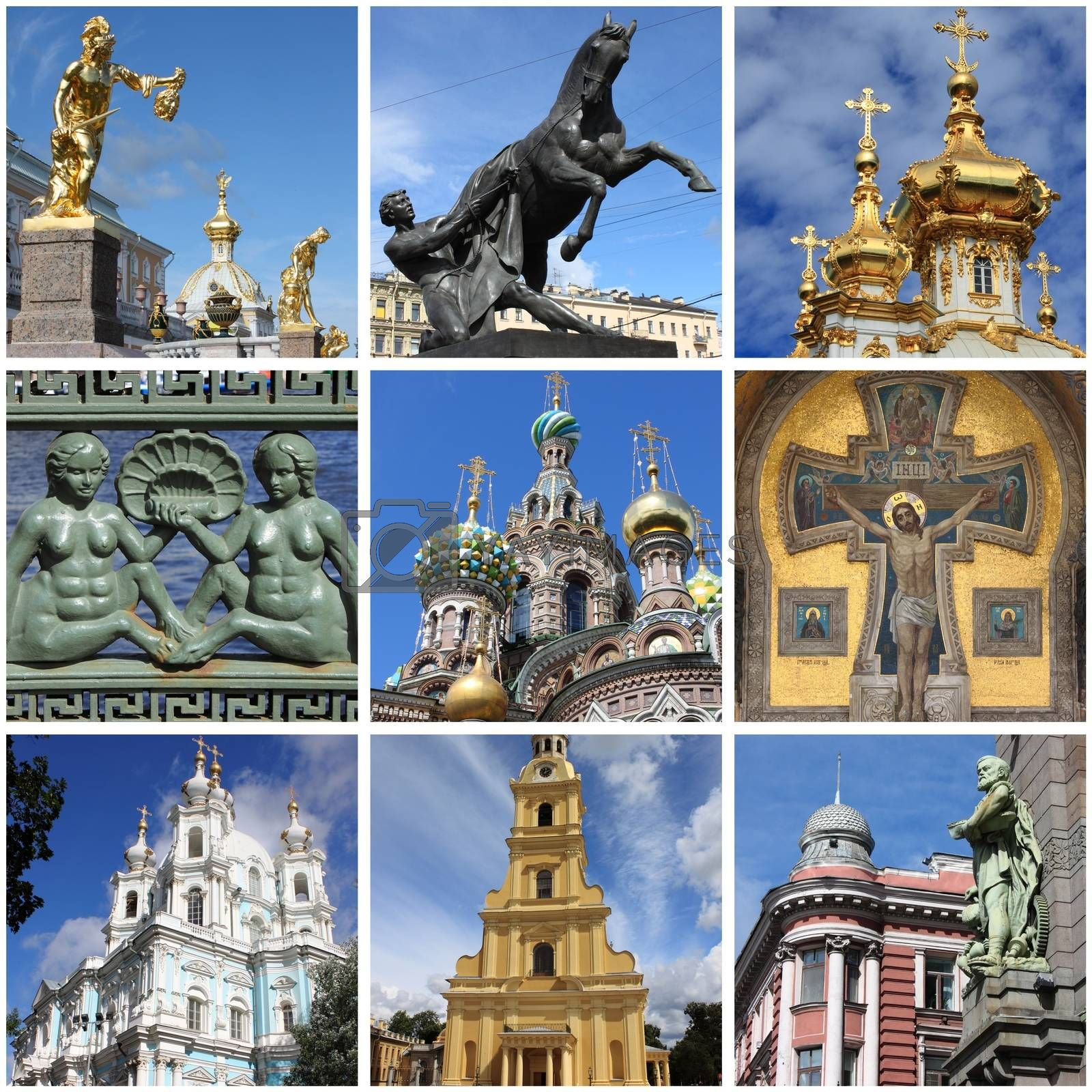 Saint Petersburg landmarks collage by alessandro0770