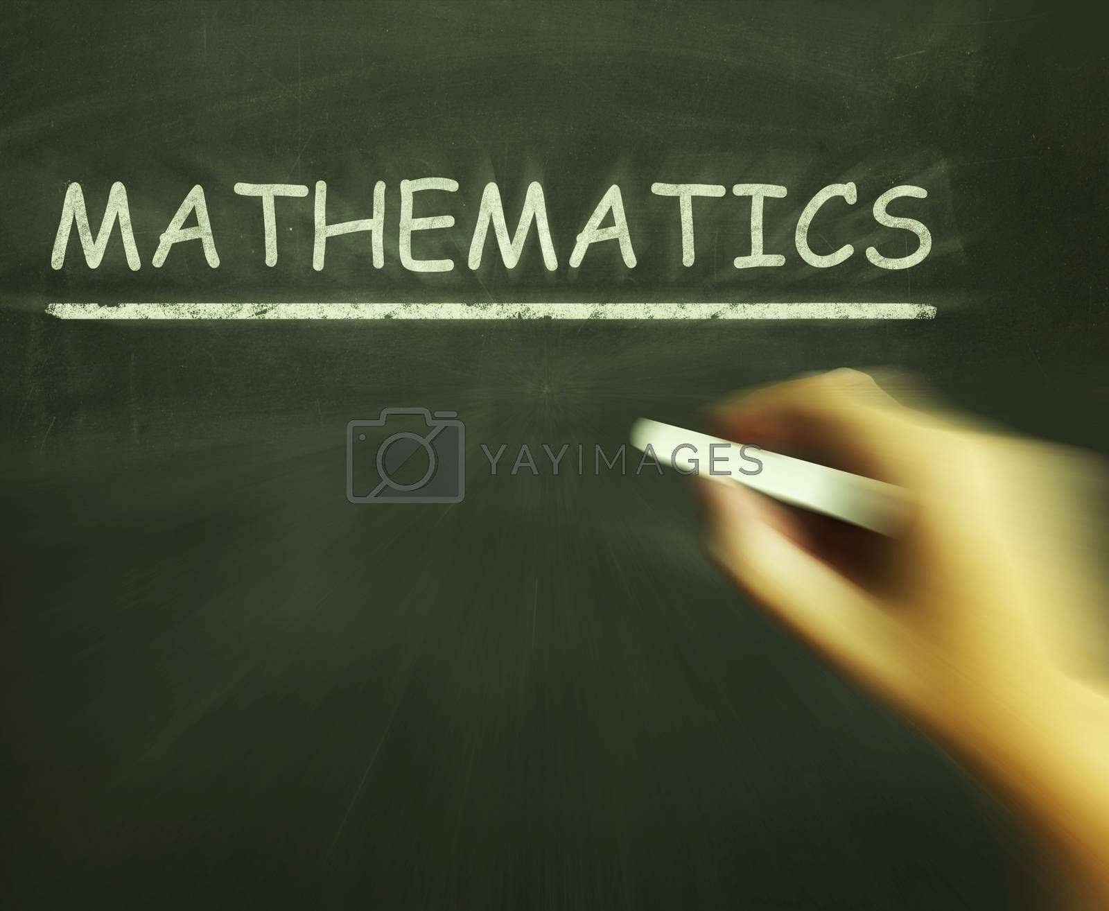 Mathematics Chalk Means Geometry Calculus Or Statistics by stuartmiles
