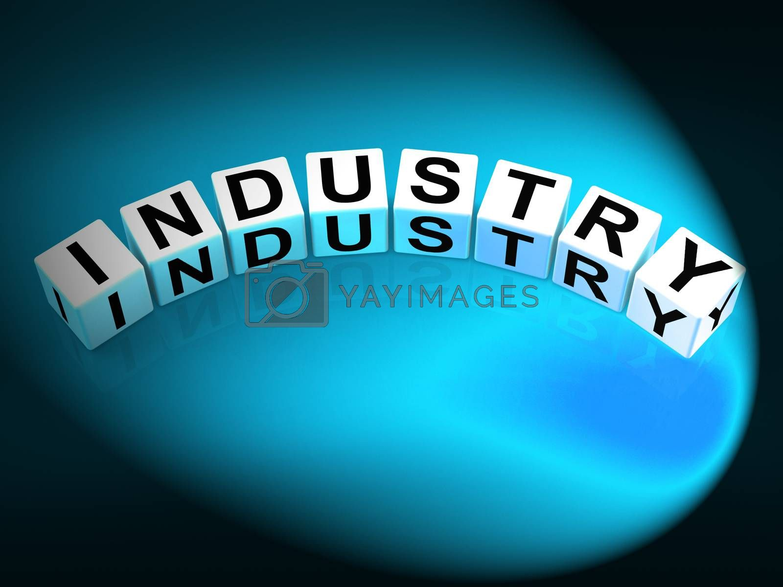 Industry Dice Mean Industrial Production and Workplace Manufactu by stuartmiles