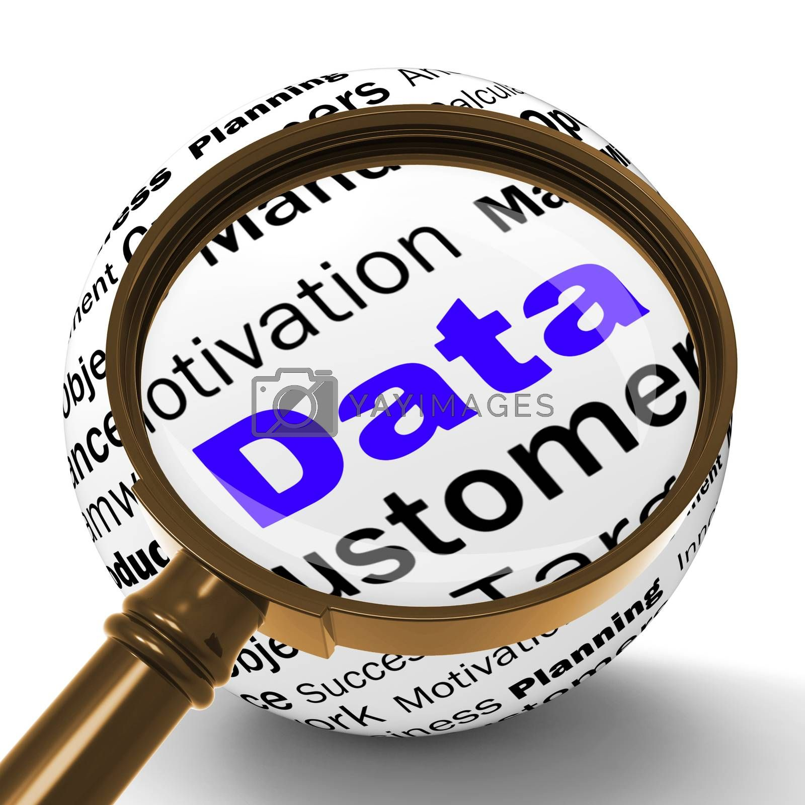 Data Magnifier Definition Means Digital Information Or Database by stuartmiles