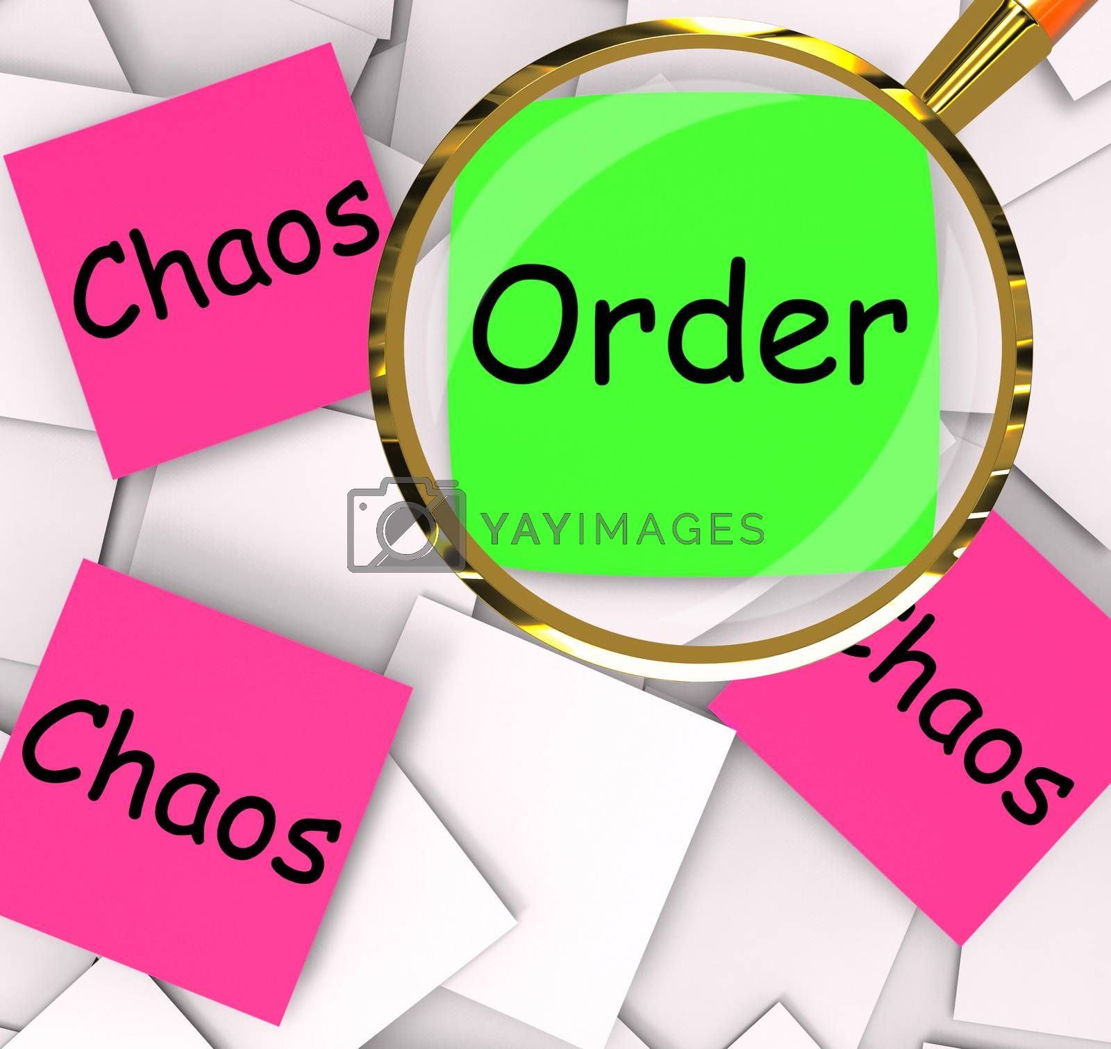 Order Chaos Post-It Papers Mean Orderly Or Chaotic by stuartmiles