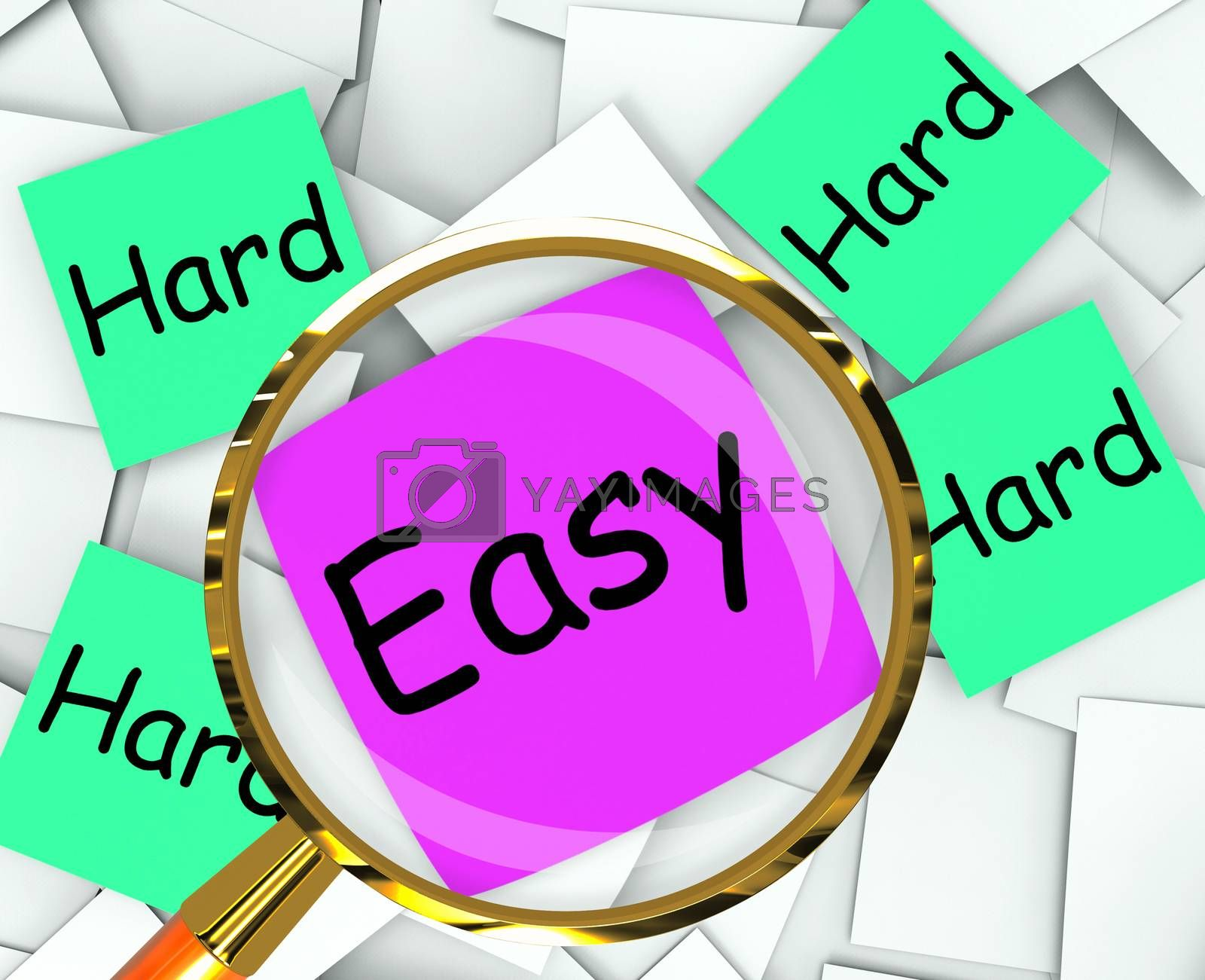 Easy Hard Post-It Papers Mean Effortless Or Challenging by stuartmiles