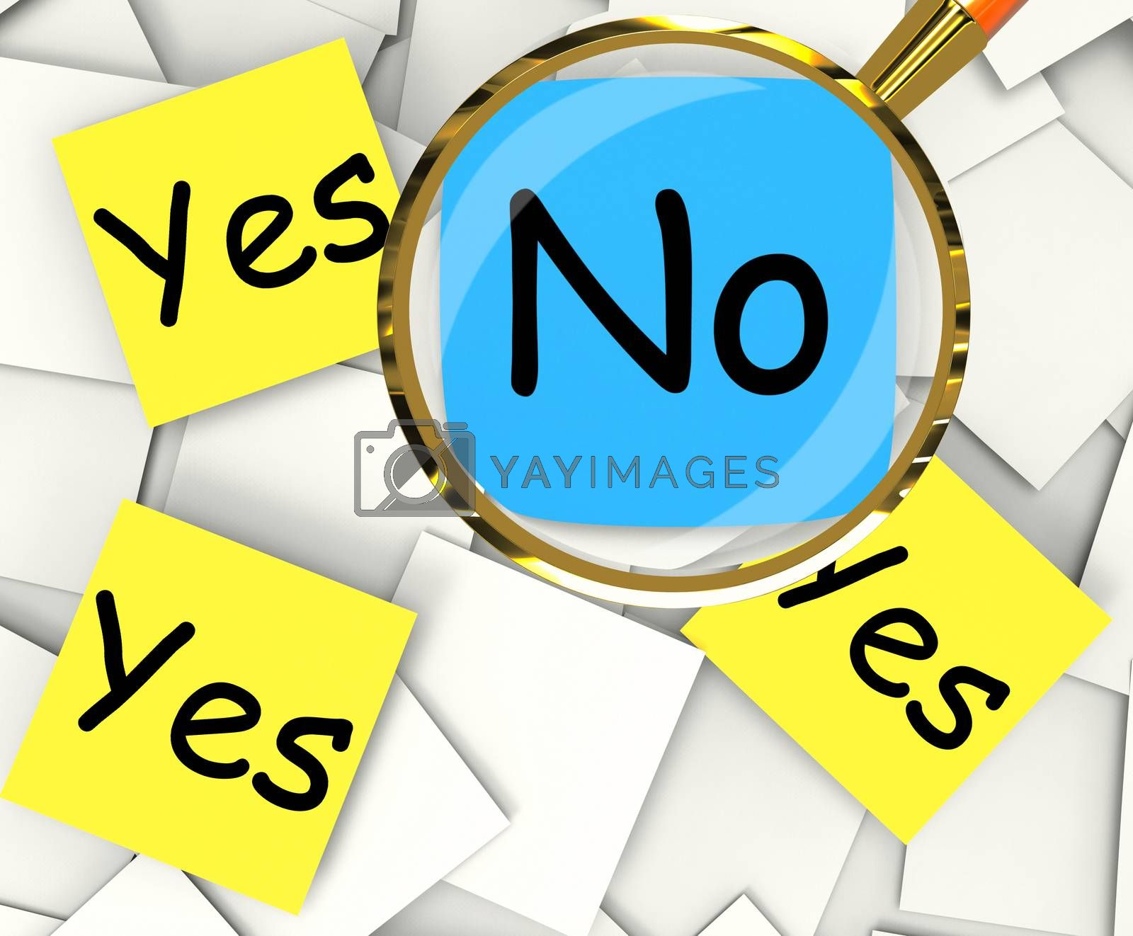 Yes No Post-It Papers Show Agree Or Disagree by stuartmiles
