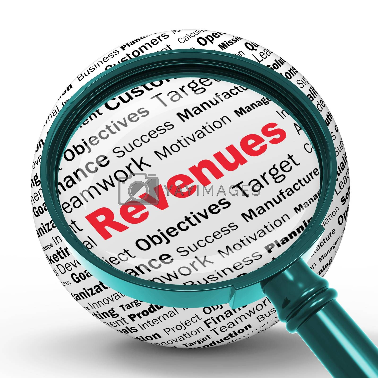 Revenues Magnifier Definitions Shows Financial Growth Or Improve by stuartmiles