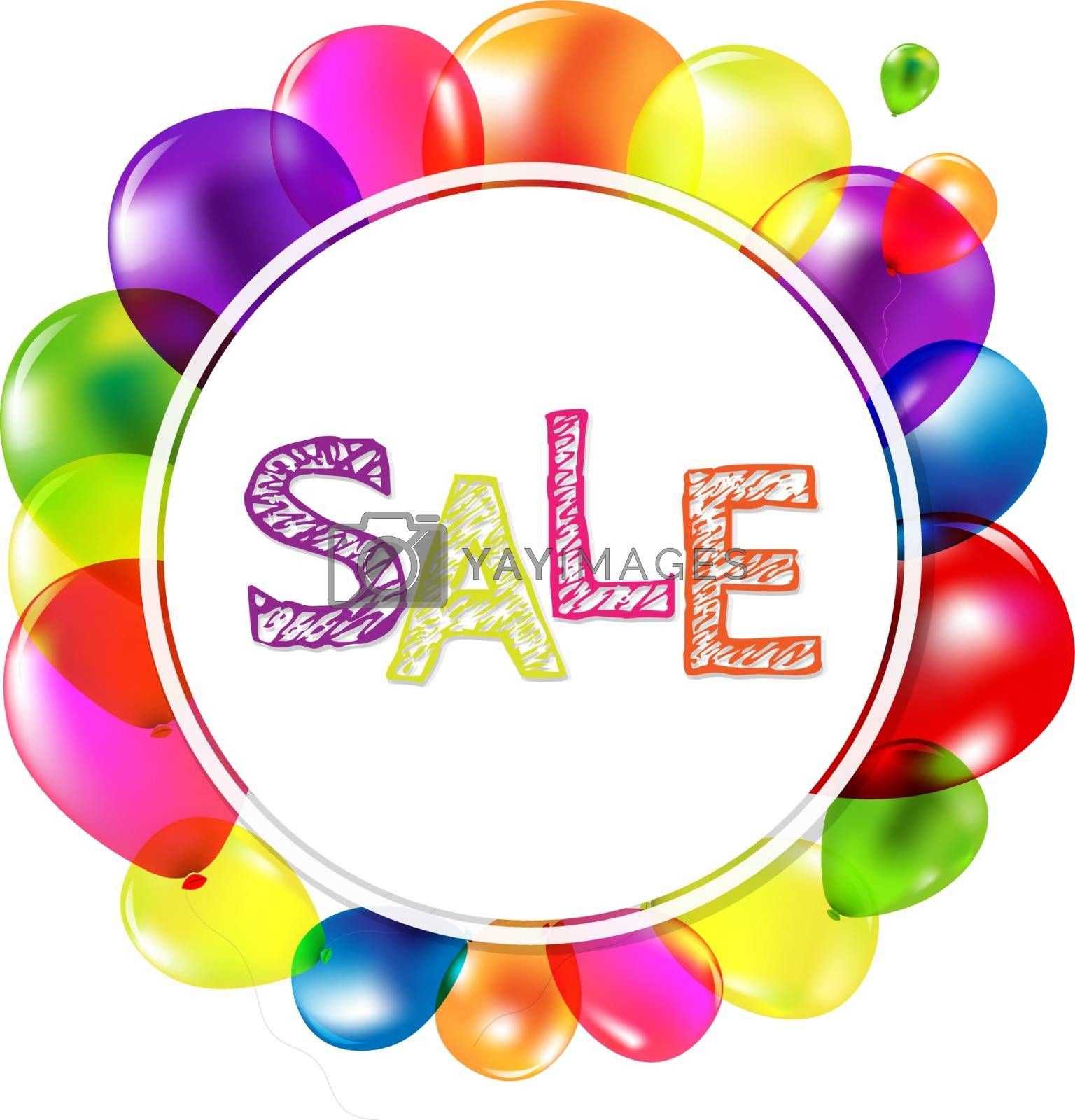 Sale Banner With Balloons by barbaliss