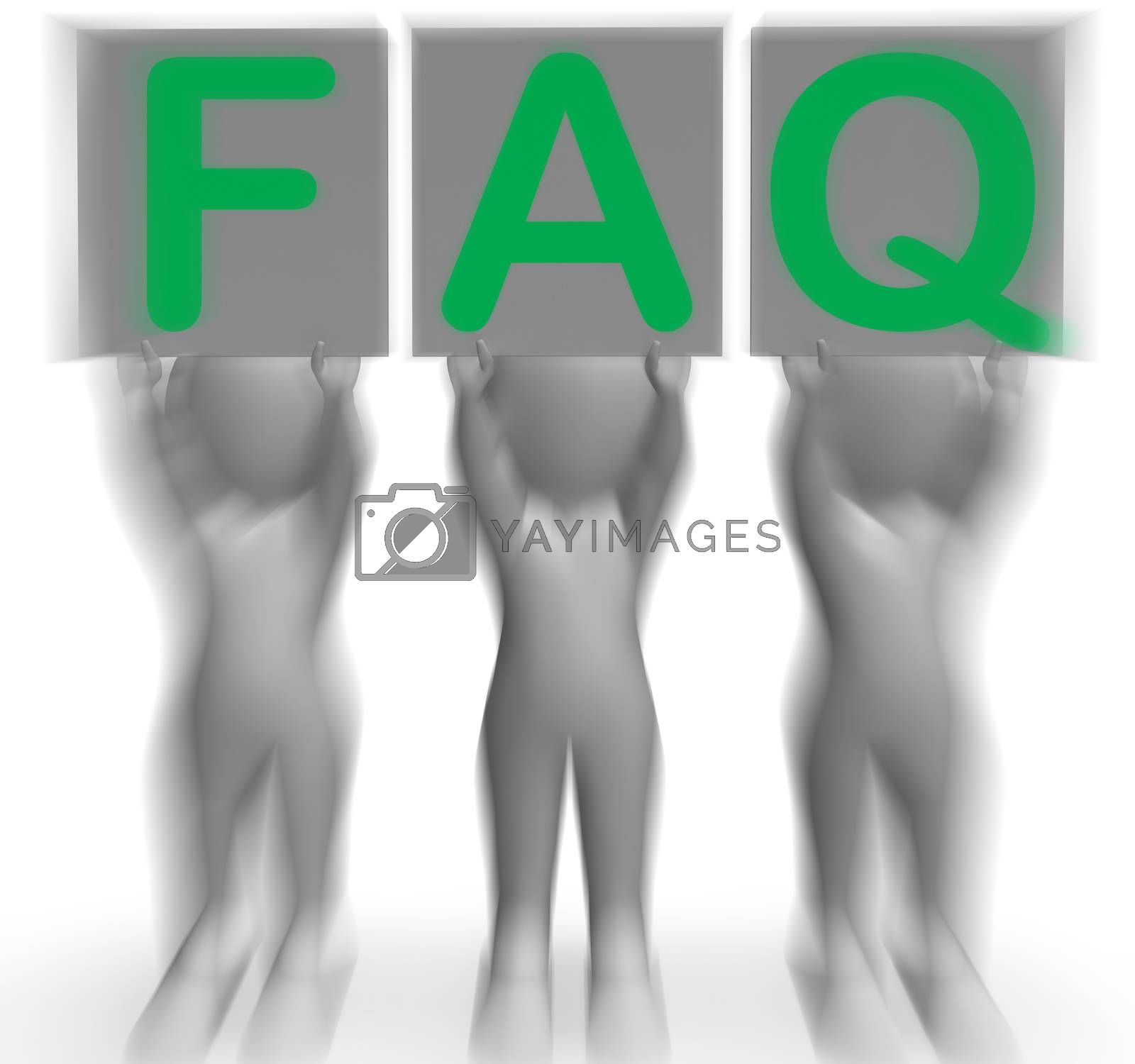 FAQ Placards Shows Frequent Assistance And Support by stuartmiles