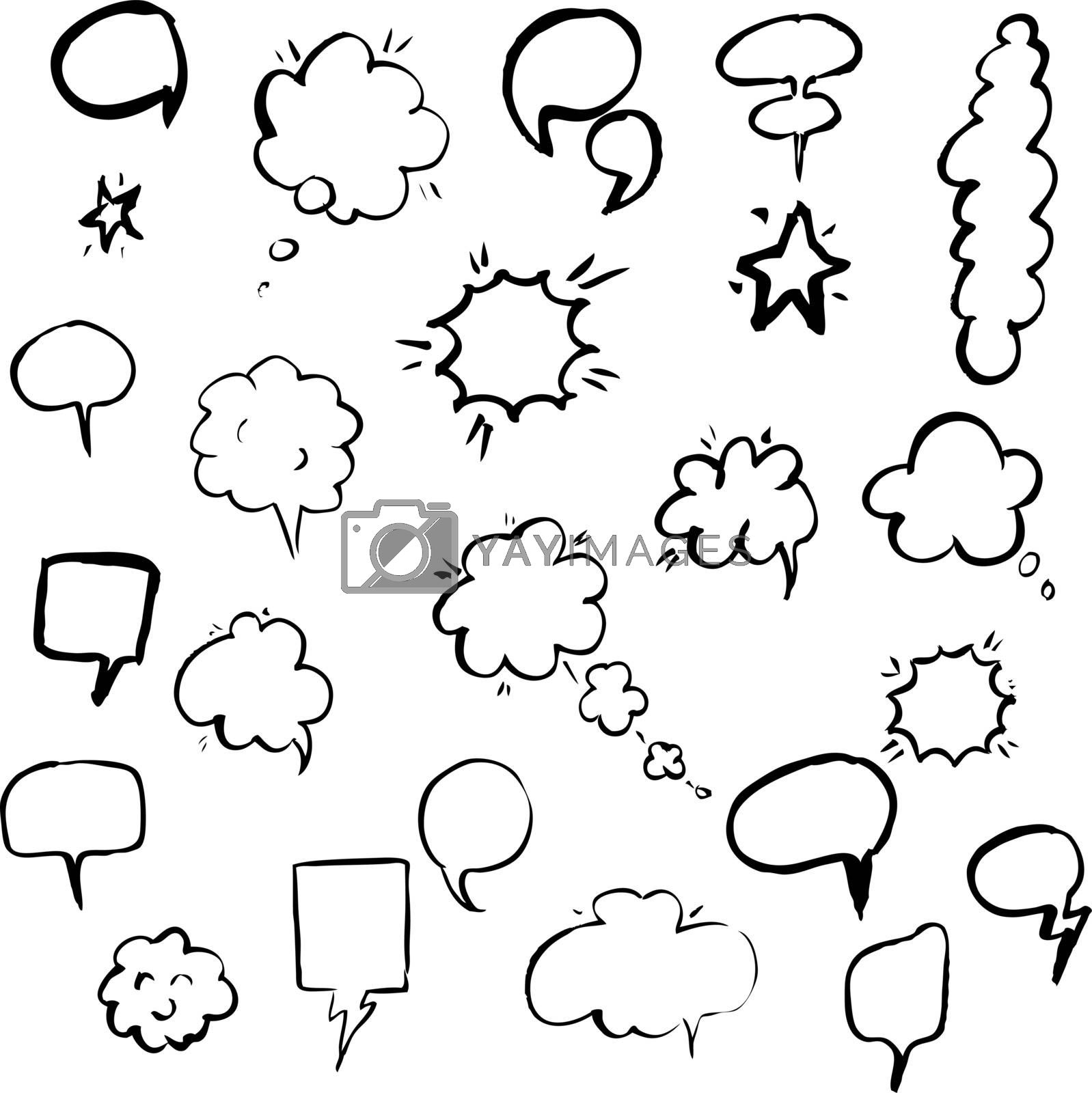 Hand Draw Speech Bubble by barbaliss