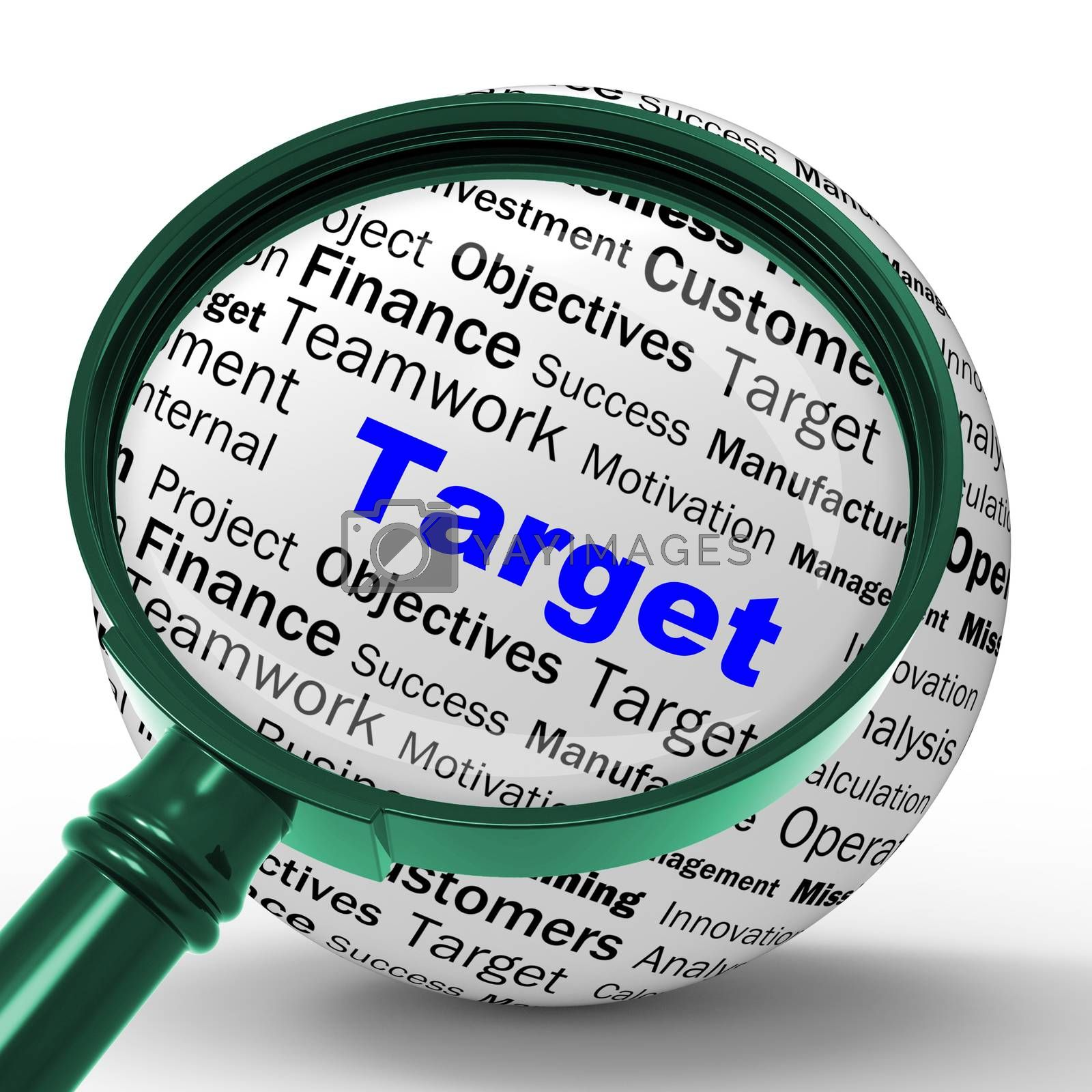 Target Magnifier Definition Means Business Goals And Objectives by stuartmiles