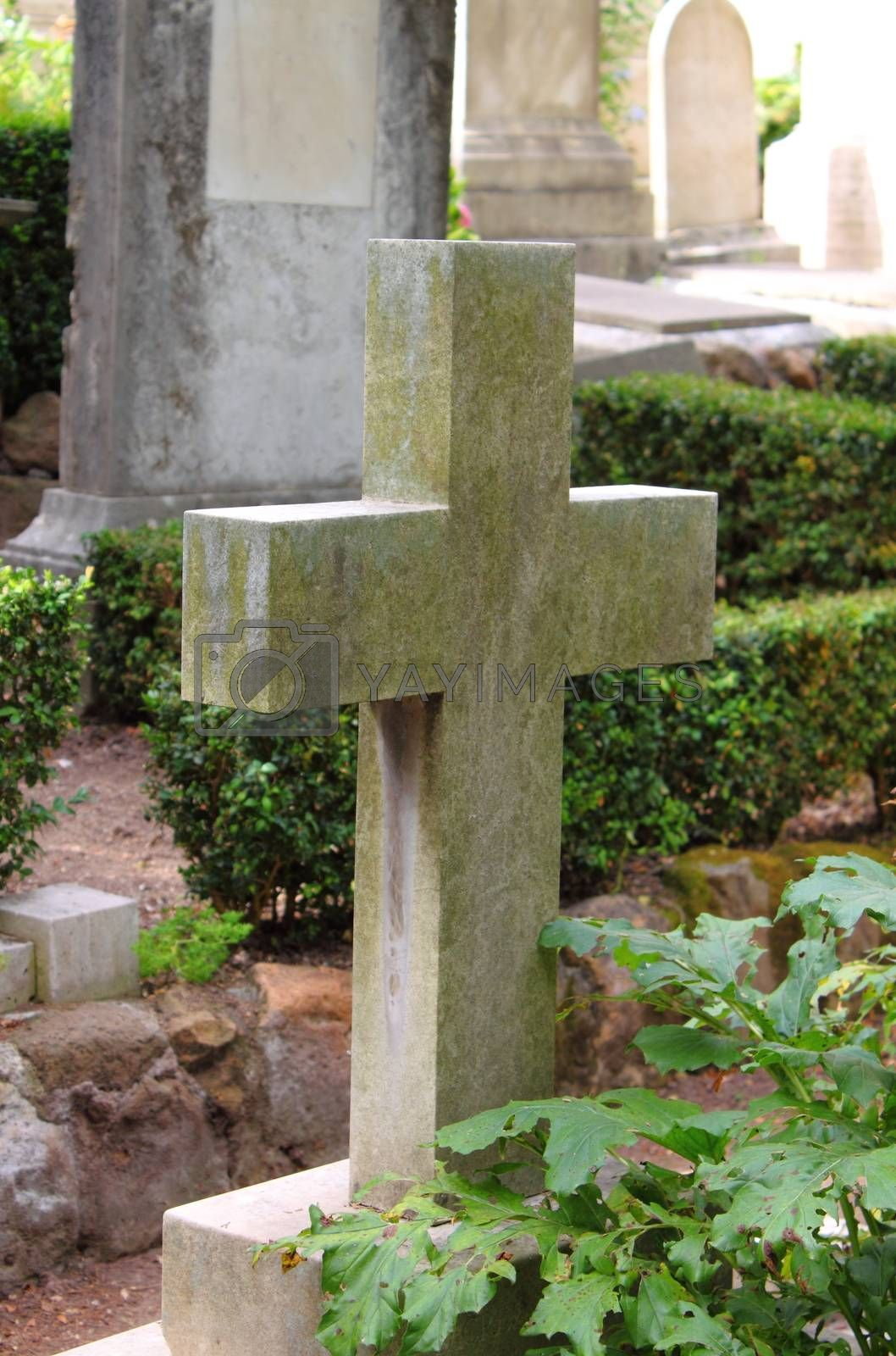 Old cross gravestone by alessandro0770