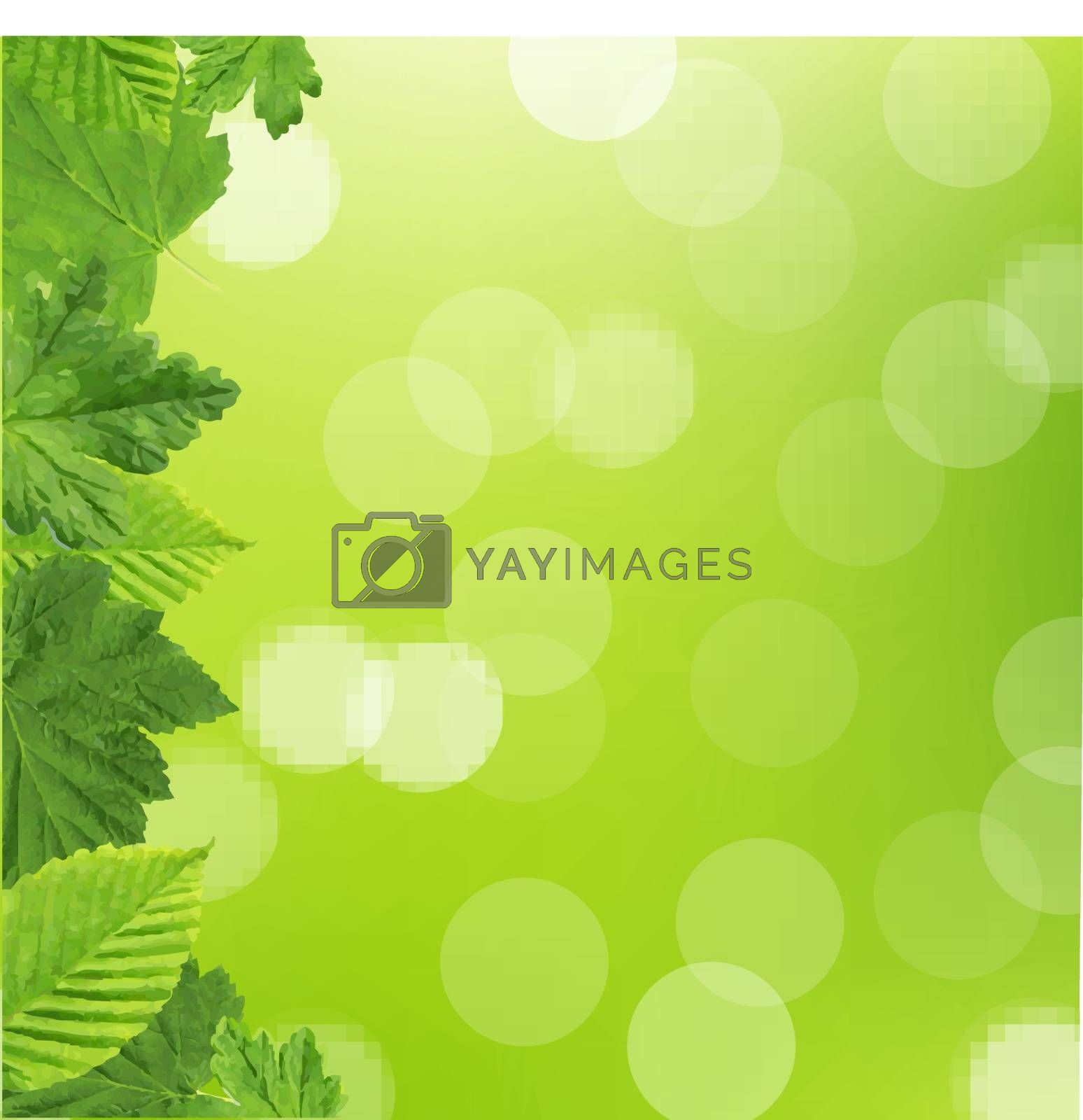 Green Leaves Frame by barbaliss