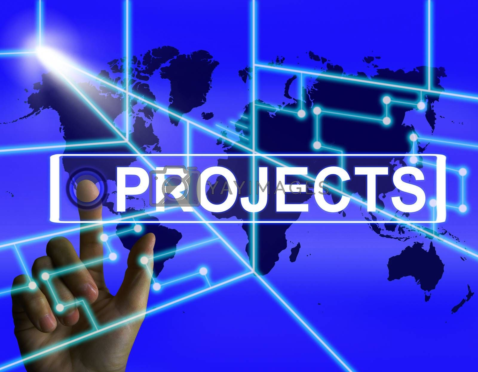 Projects Screen Indicates International or Internet Task or Acti by stuartmiles
