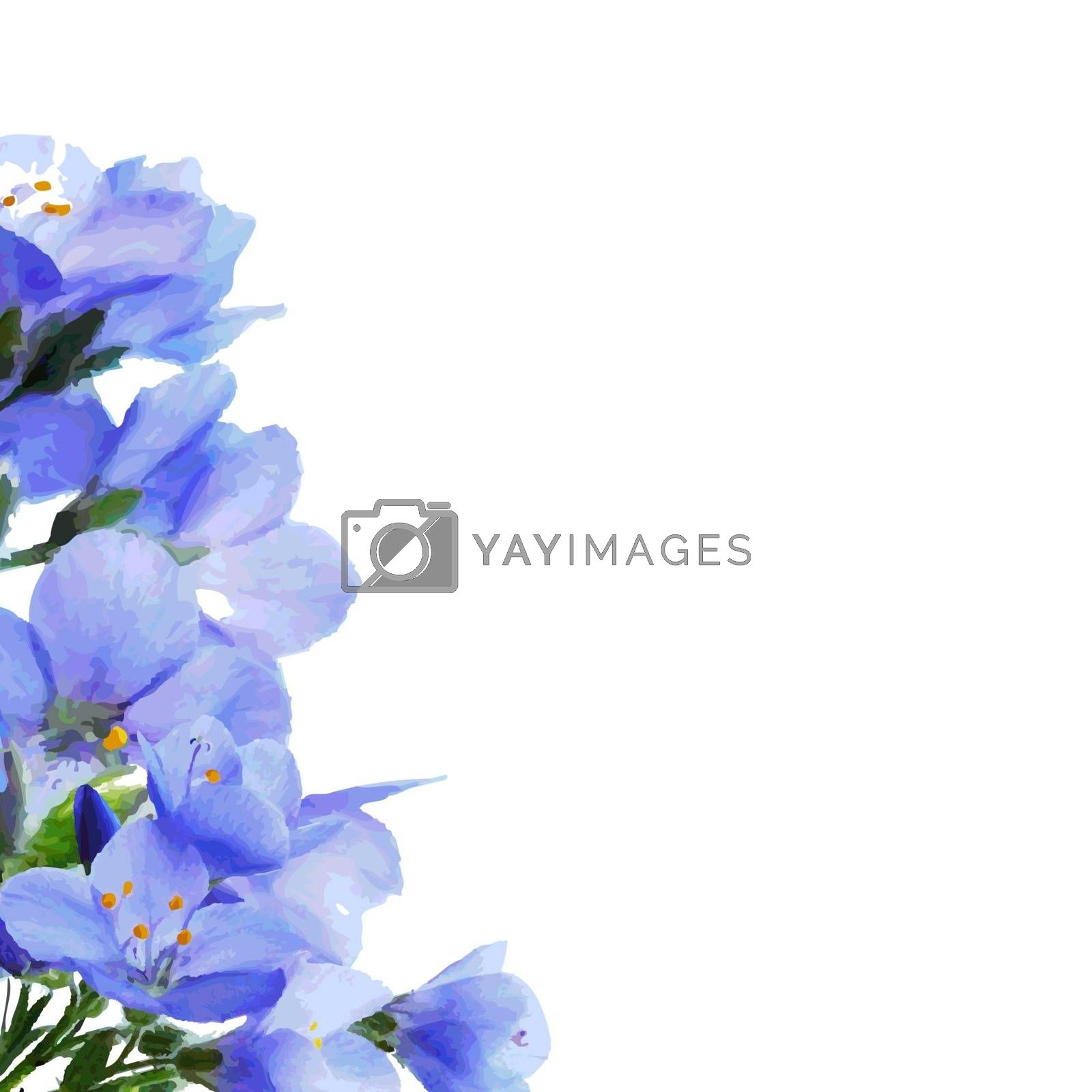 Blue Flowers Border by barbaliss