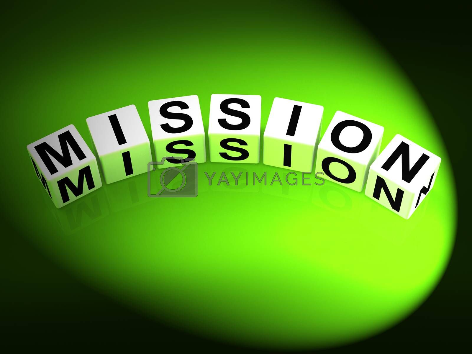 Mission Dice Show Mission Strategies and Goals by stuartmiles