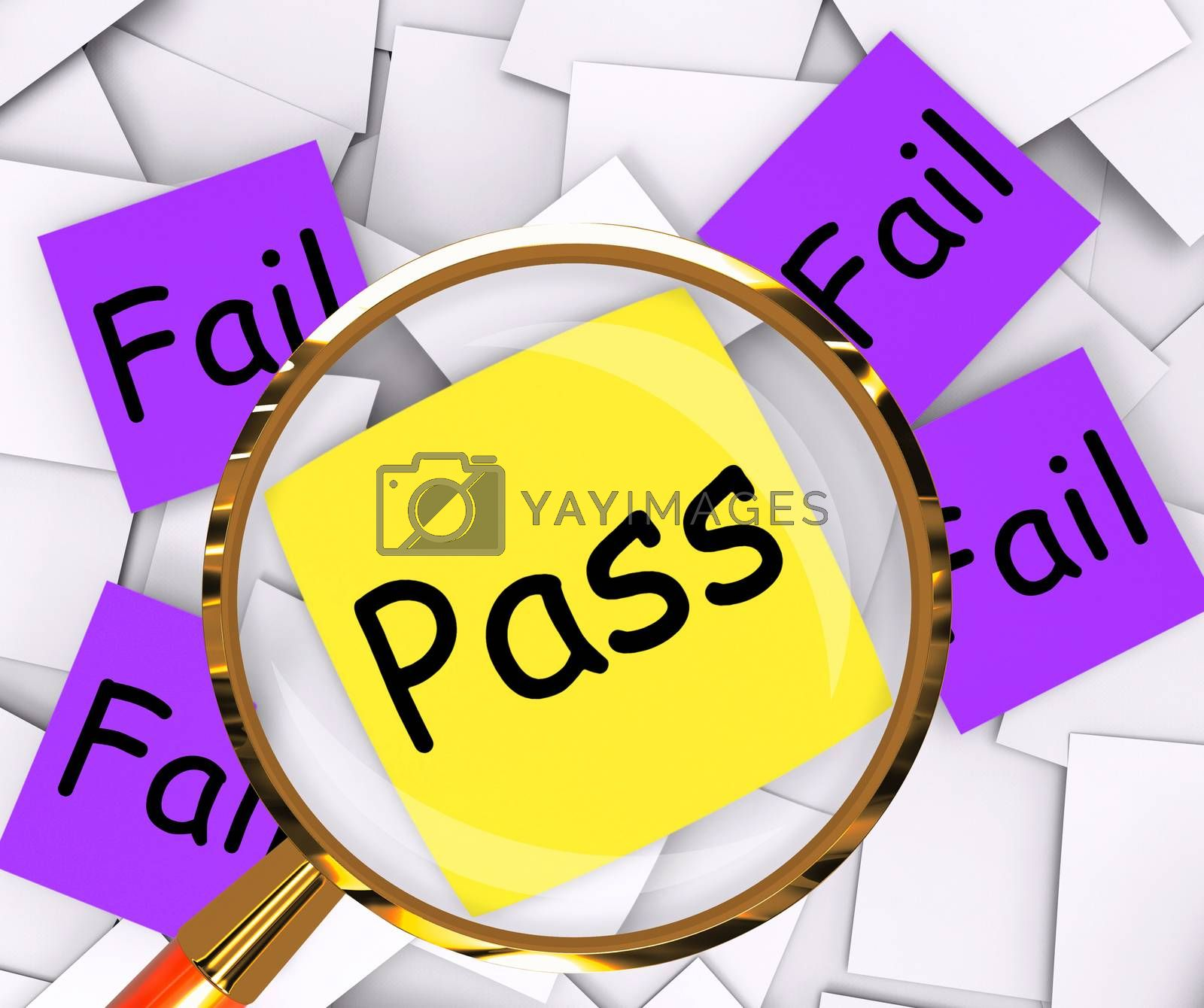 Pass Fail Post-It Papers Shows Acceptable Or Unsatisfactory by stuartmiles