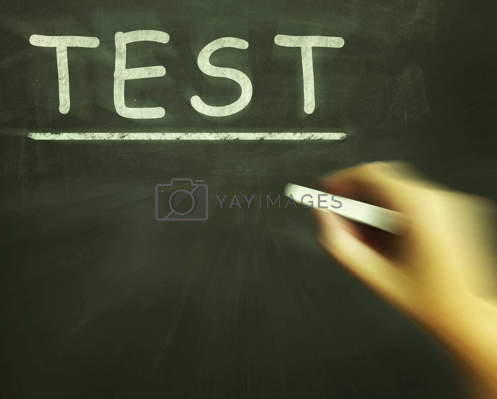 Test Chalk Shows Assessment Exam And Grade by stuartmiles