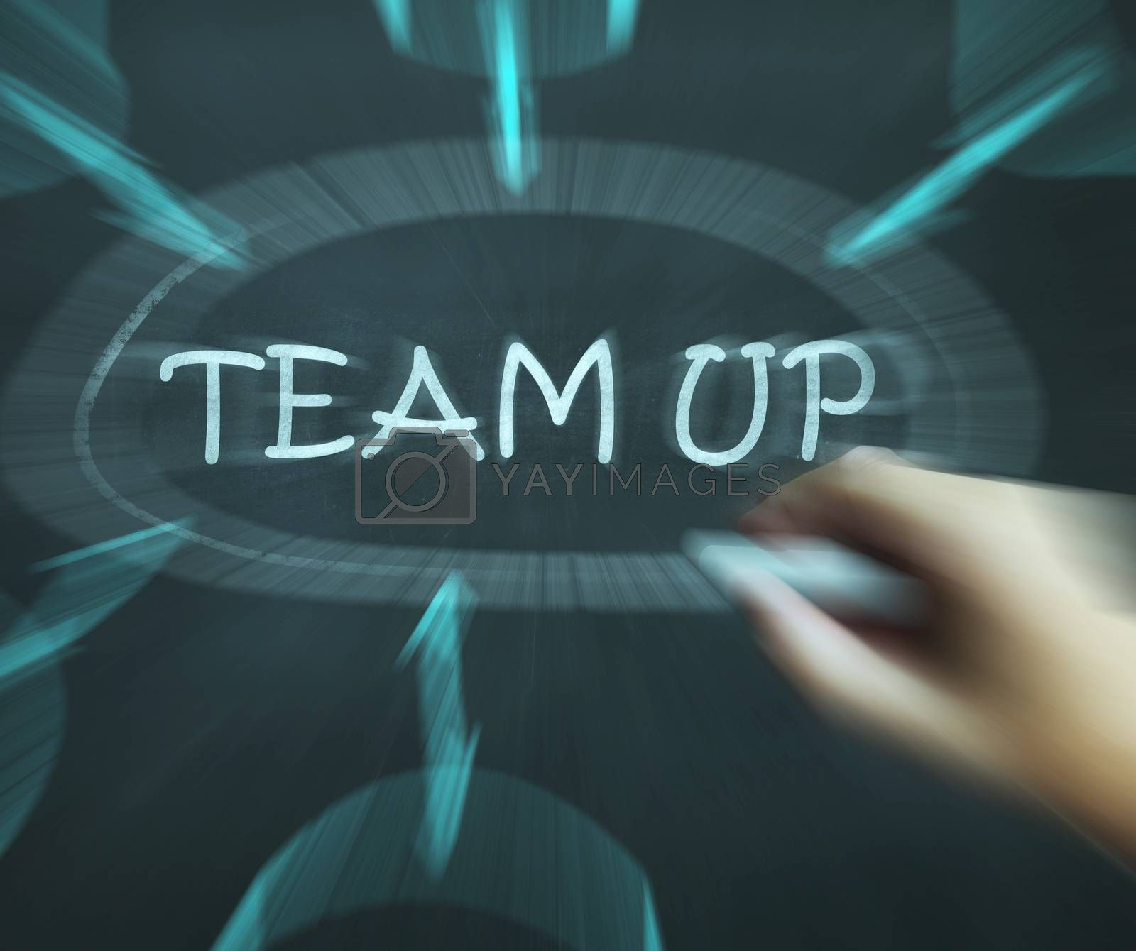 Team Up Diagram Means Partnership And Joint Forces by stuartmiles