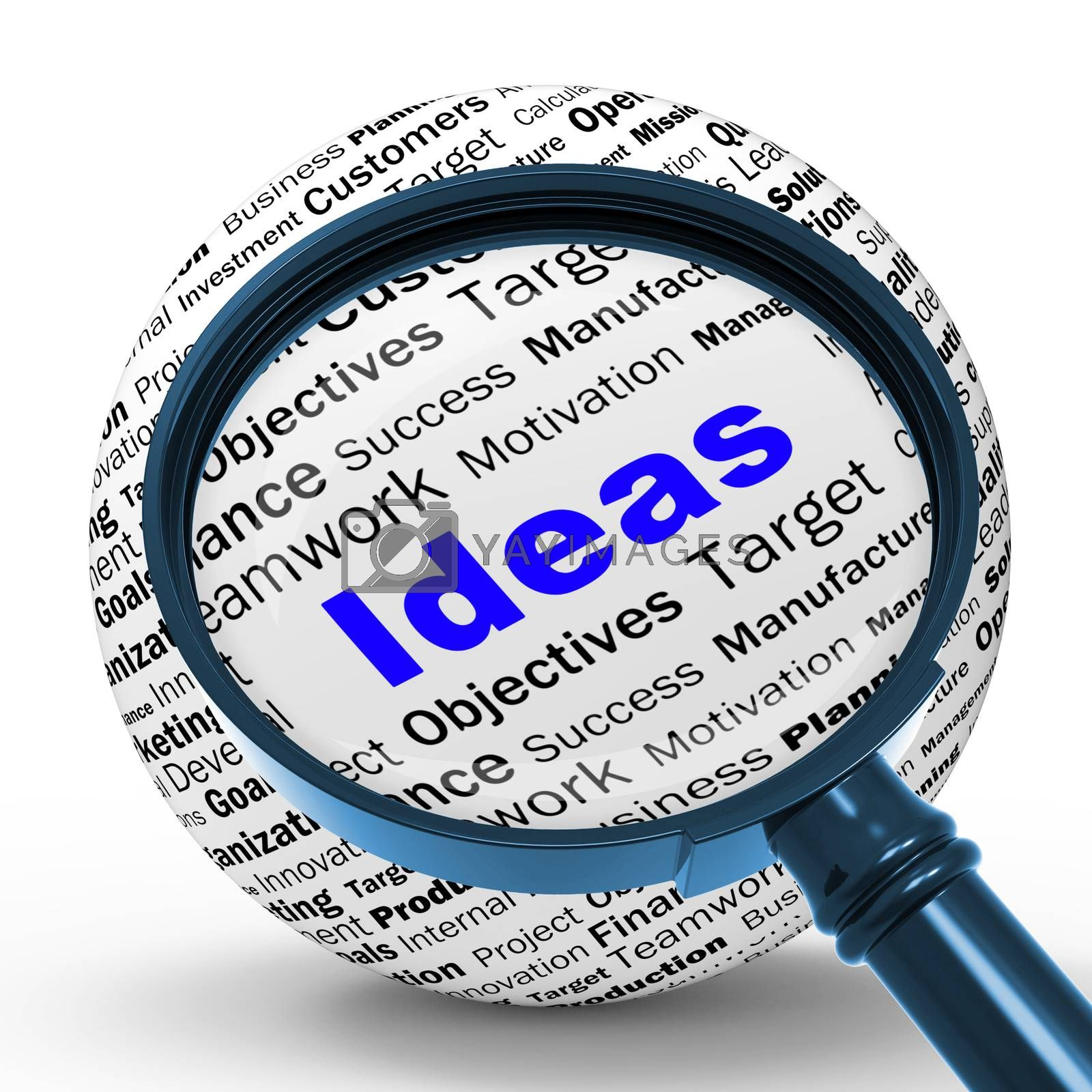 Ideas Magnifier Definition Shows Creativity And Innovation by stuartmiles