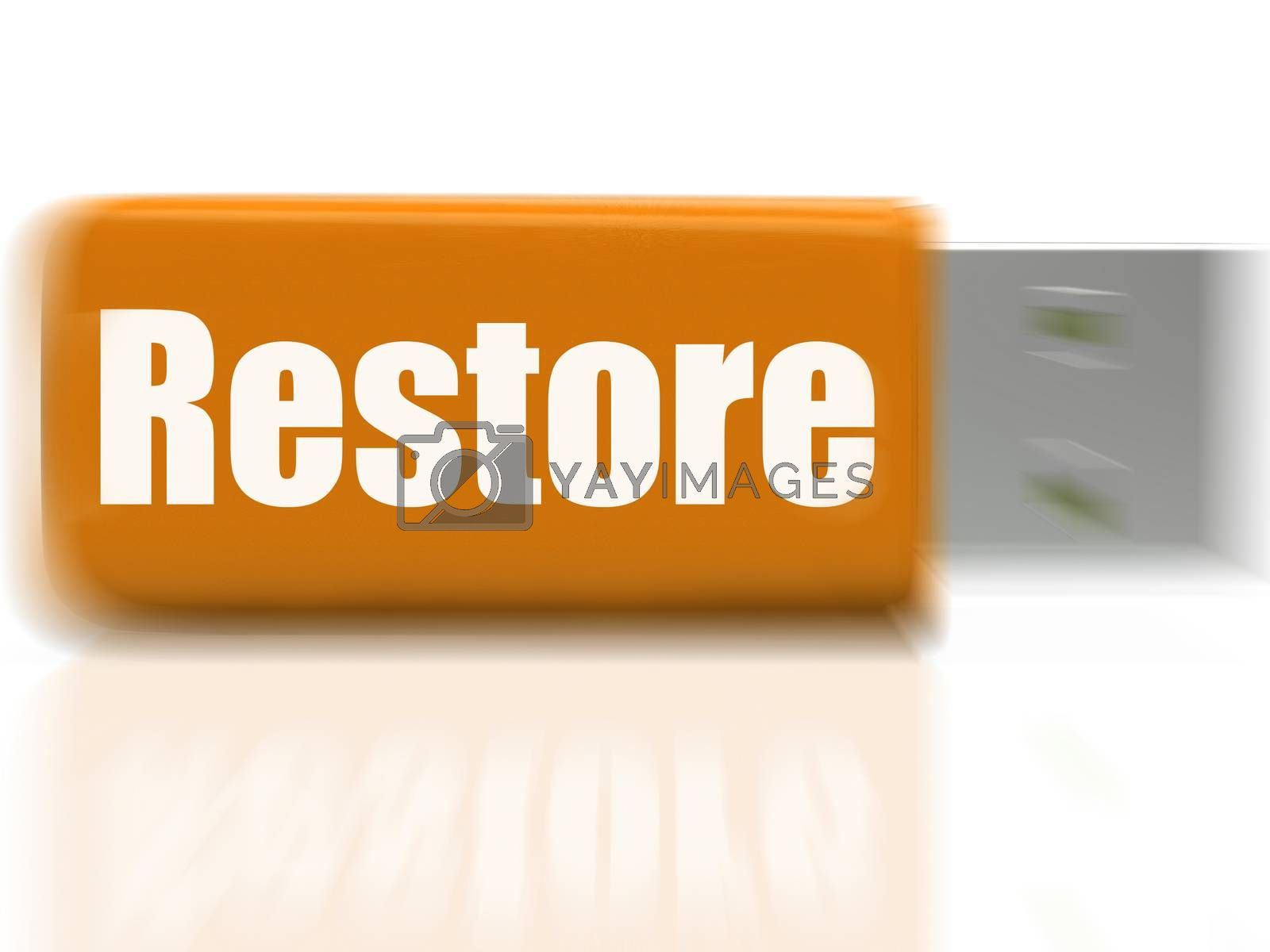 Restore USB drive Shows Data Security And Restoration by stuartmiles