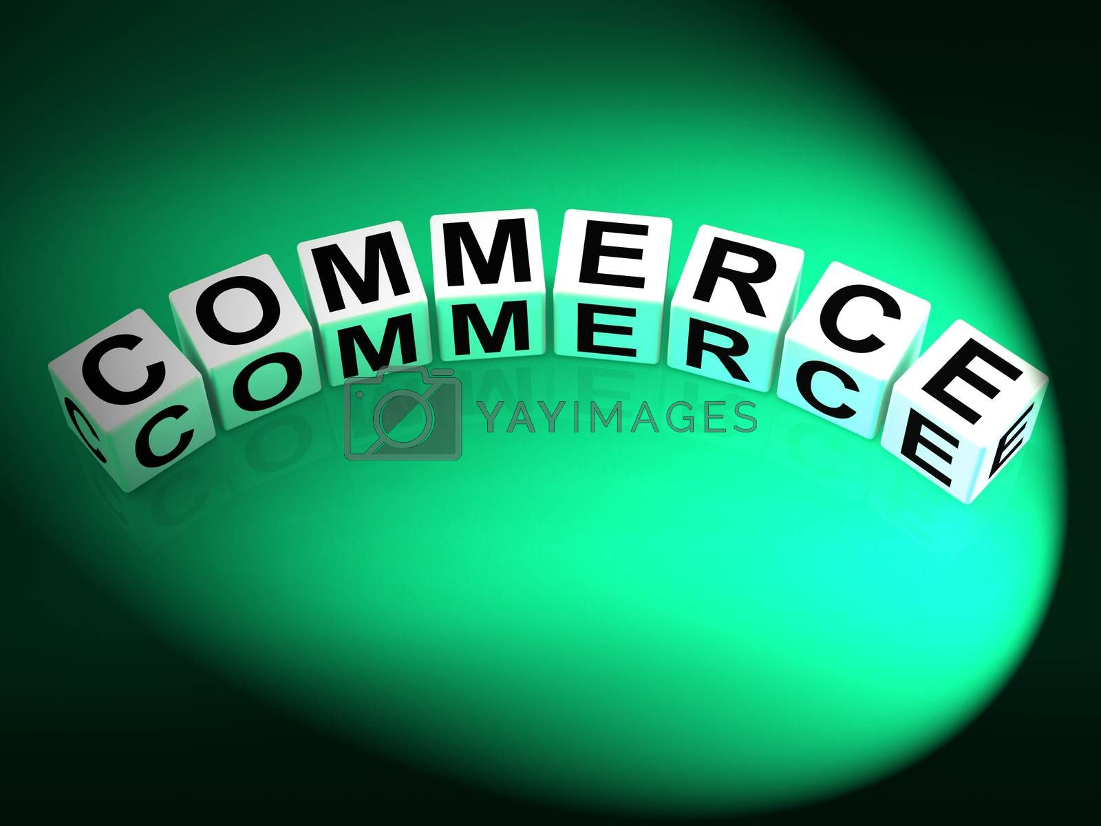 Commerce Dice Represent Commercial Marketing and Financial Trade by stuartmiles