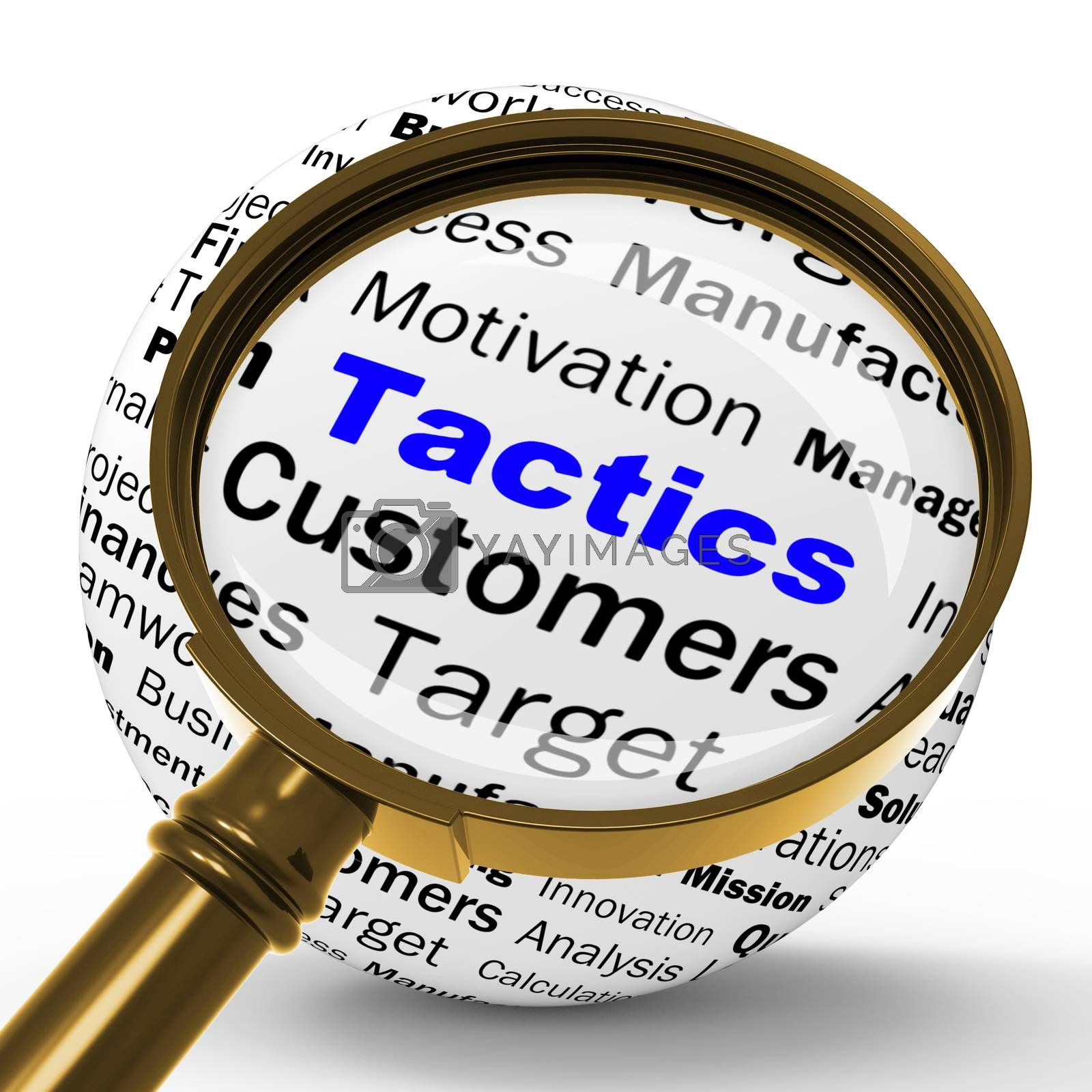 Tactics Magnifier Definition Shows Management Plan Or Strategy by stuartmiles