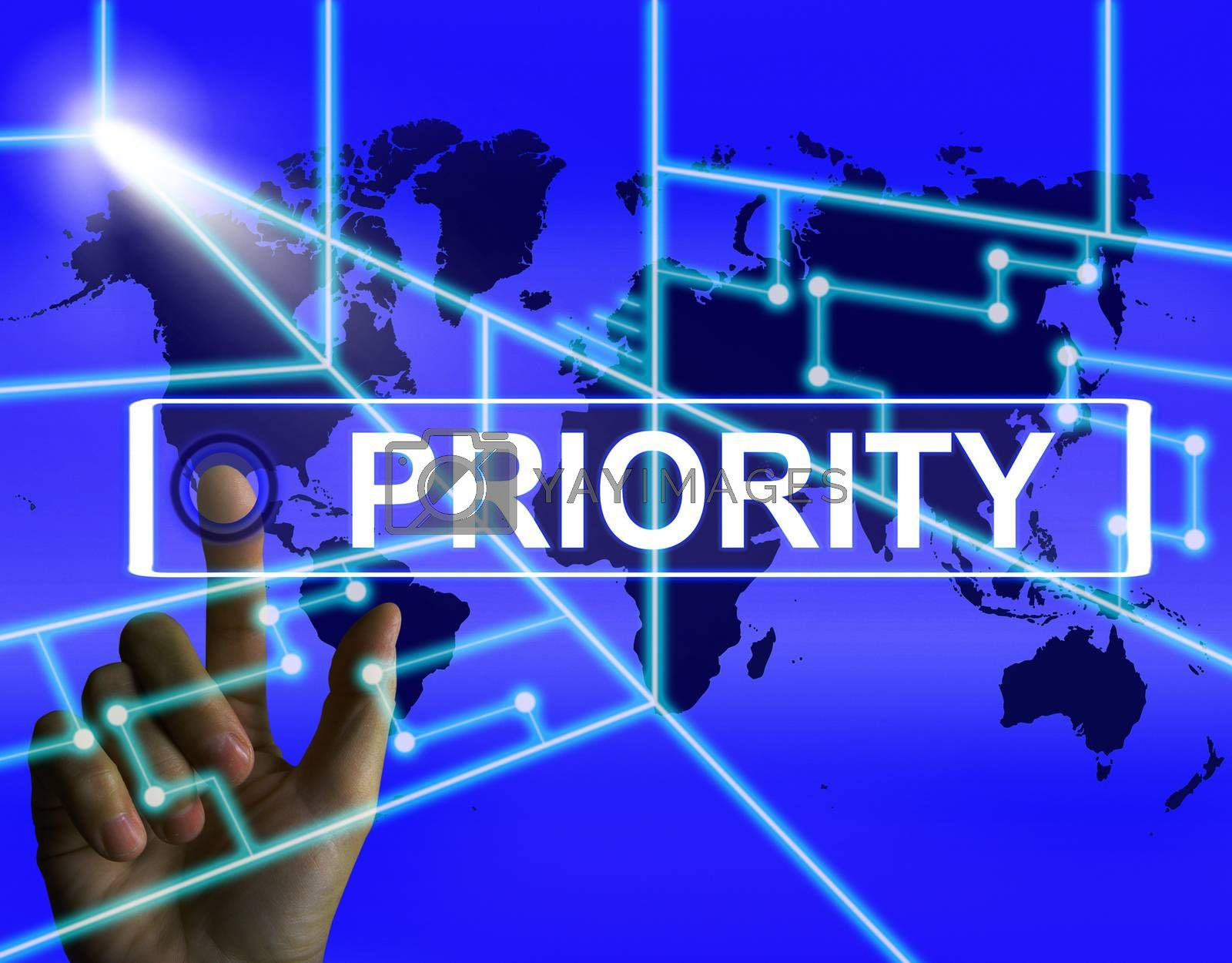 Priority Screen Shows Superiority or Preference in Importance Wo by stuartmiles