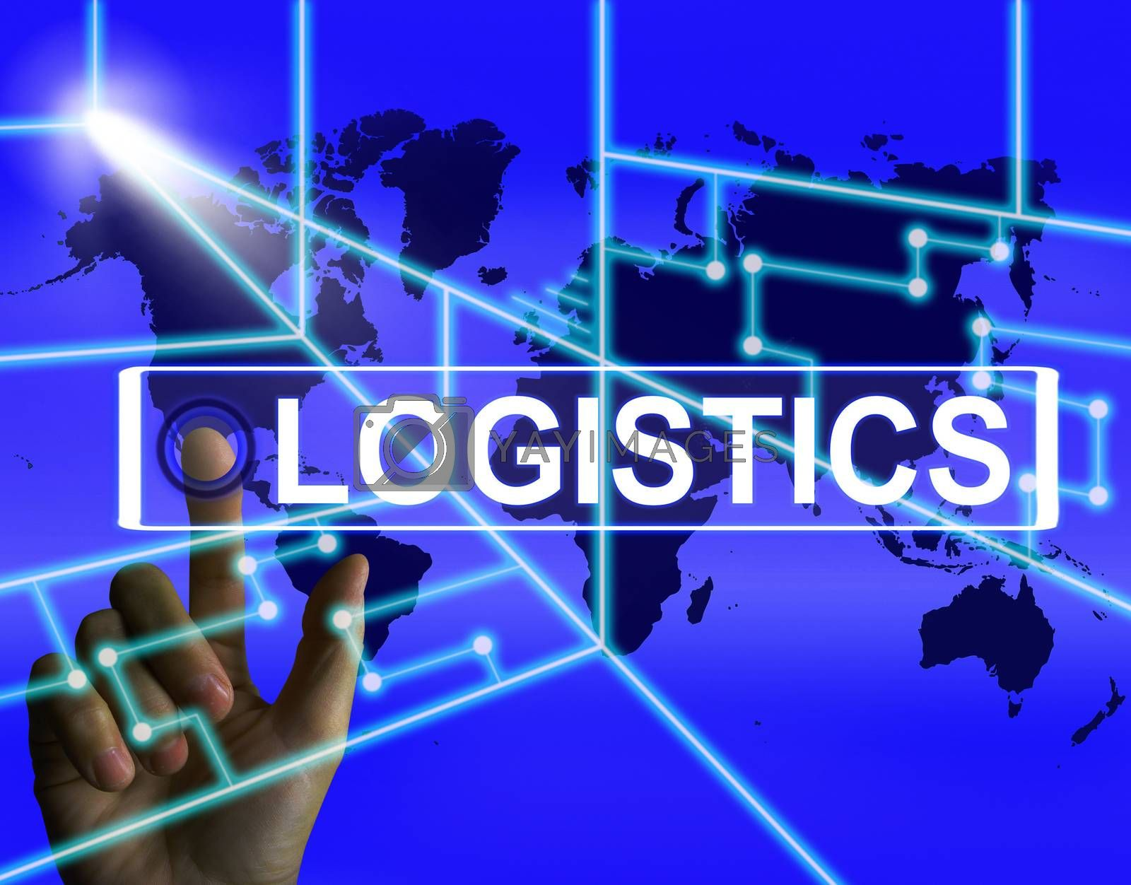 Logistics Screen Indicates Logistical Strategies and Internation by stuartmiles
