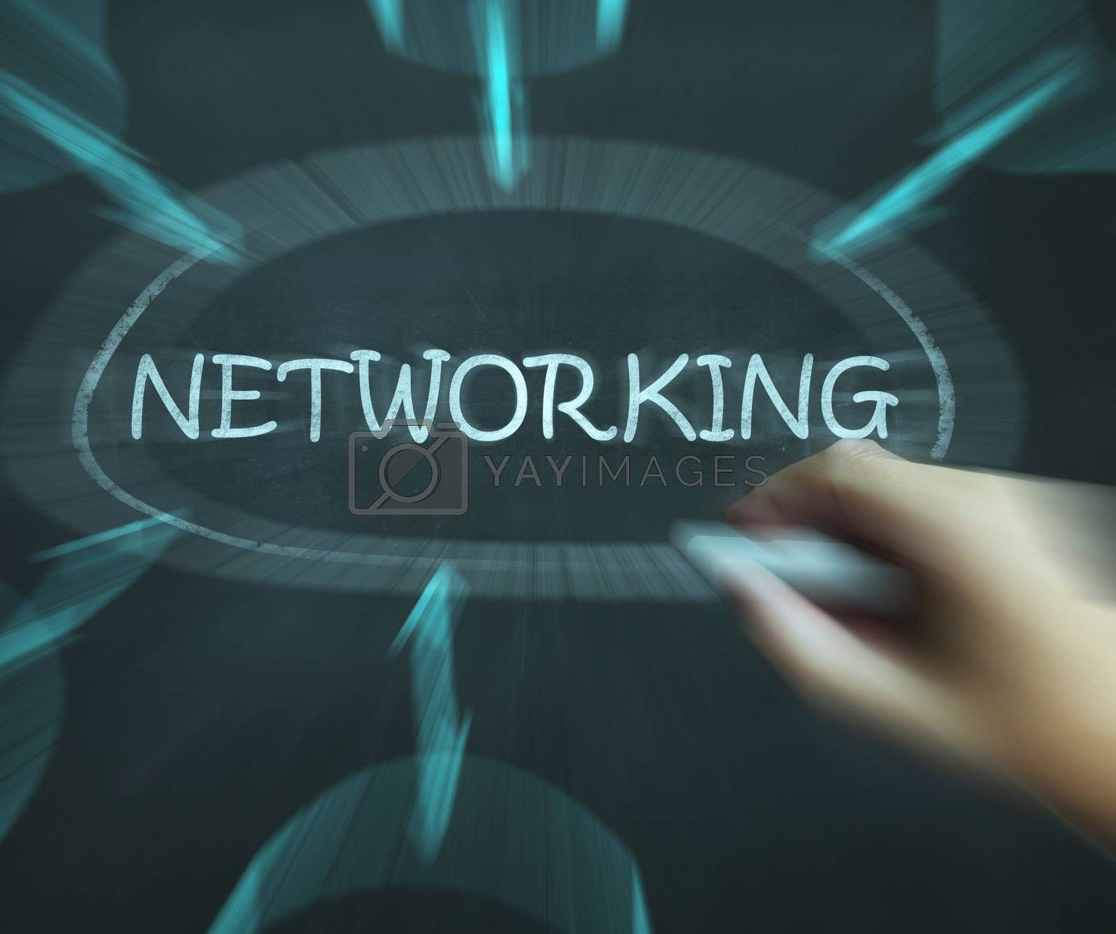Networking Diagram Means Making Contacts And Connections by stuartmiles