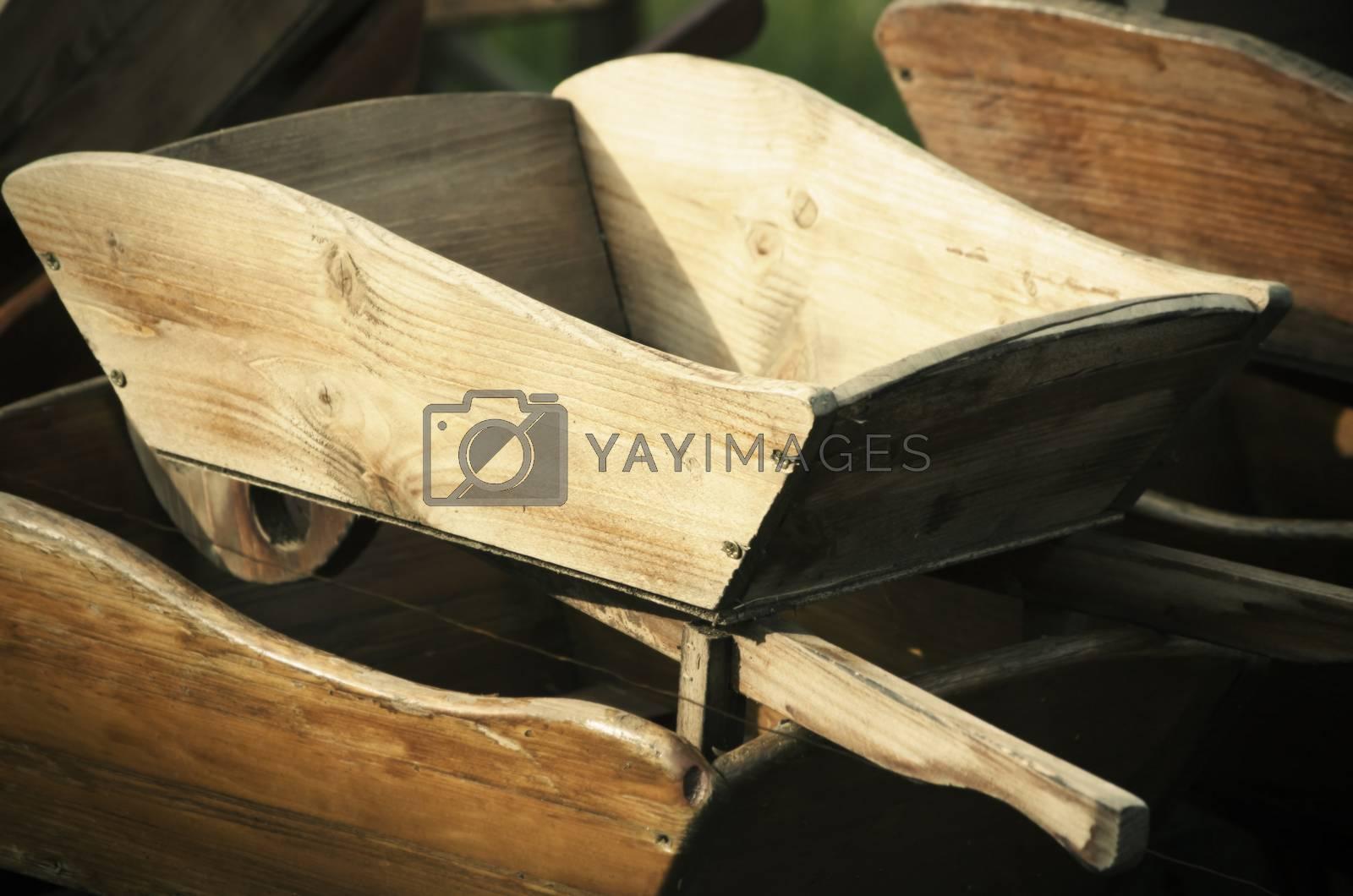 Wooden Pushcart  by razvodovska