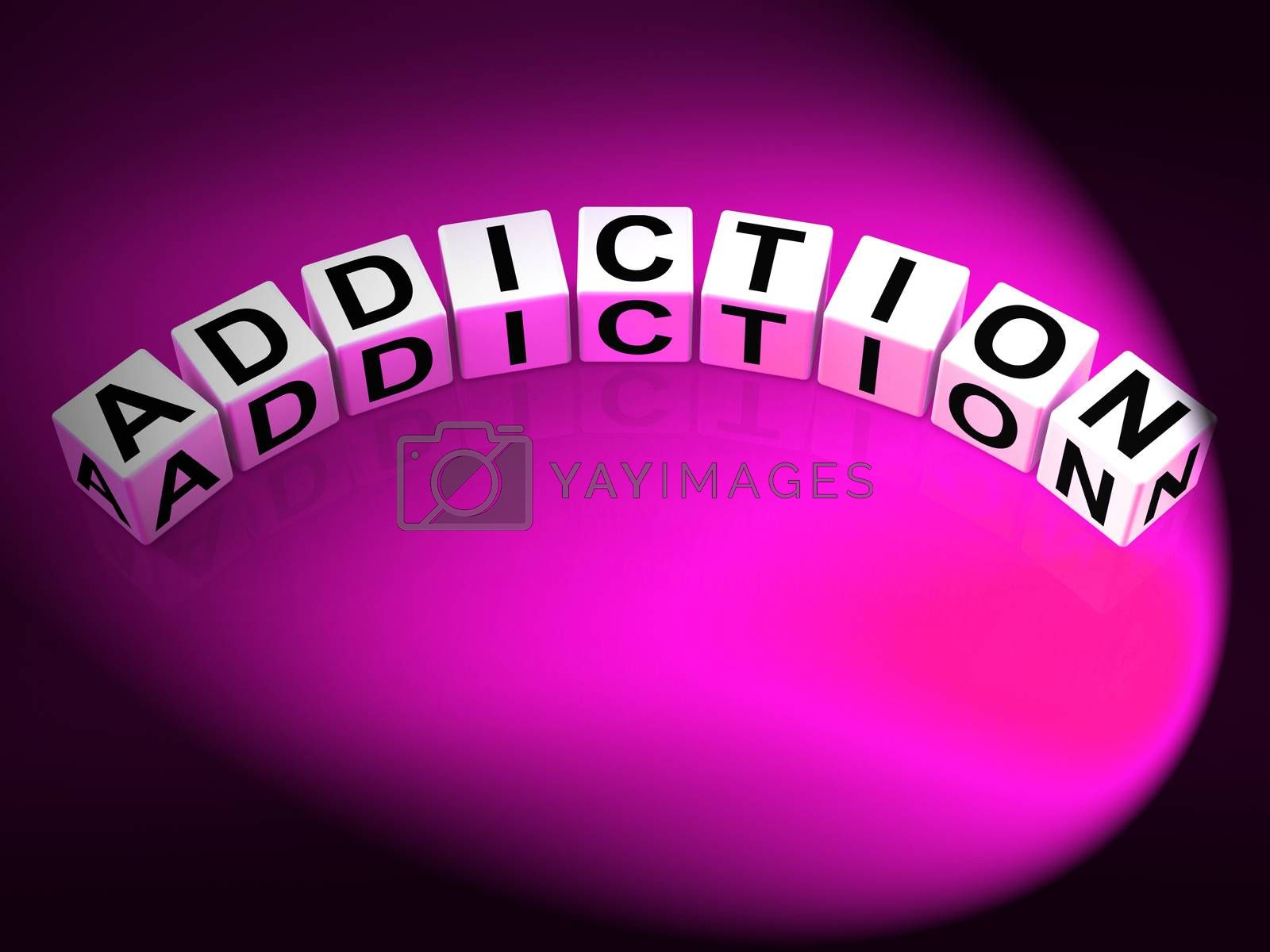 Addiction Dice Represent Obsession Dependence and Cravings by stuartmiles