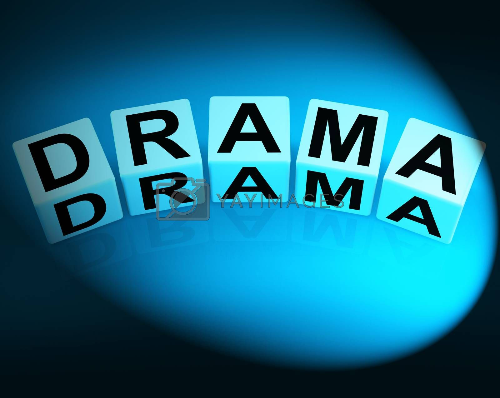 Drama Dice Indicate Dramatic Theater or Emotional Feelings by stuartmiles