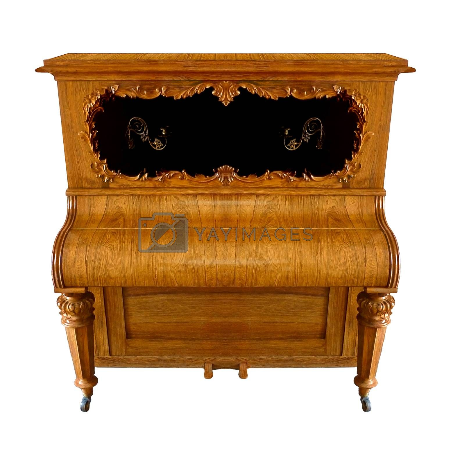 Old Style Little Piano by DanFLCreative