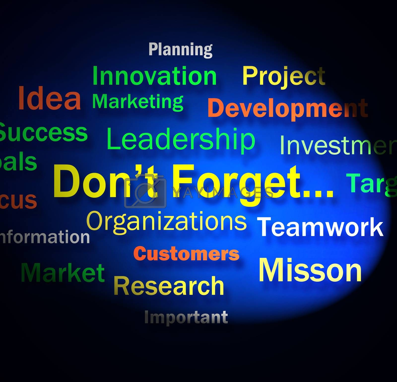 Dont Forget Words Shows Remembering Business Components by stuartmiles