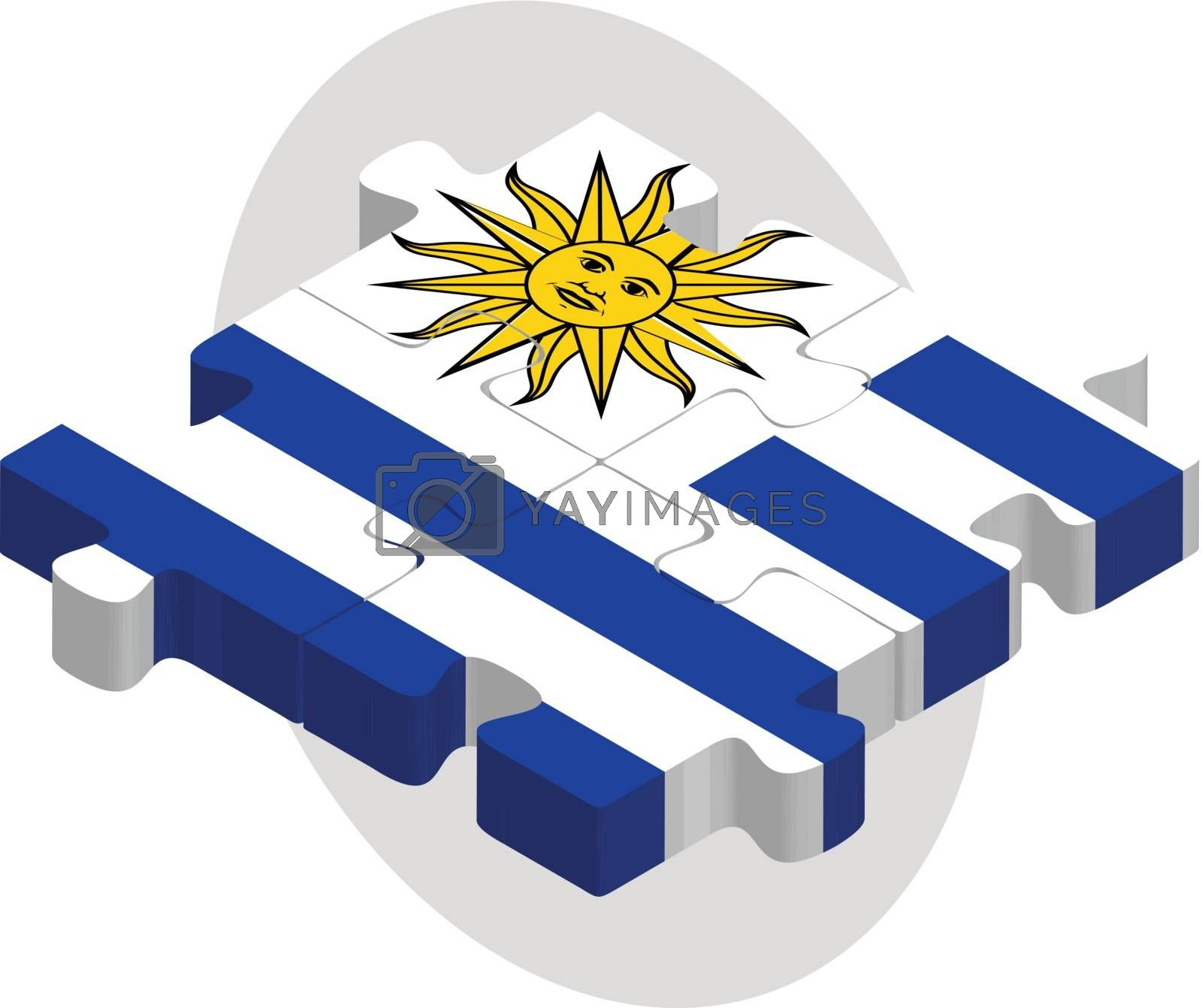 Uruguay Flag in puzzle by Istanbul2009