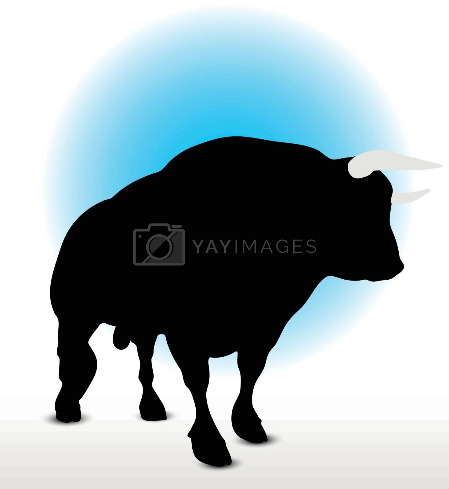 Bull Silhouette by Istanbul2009