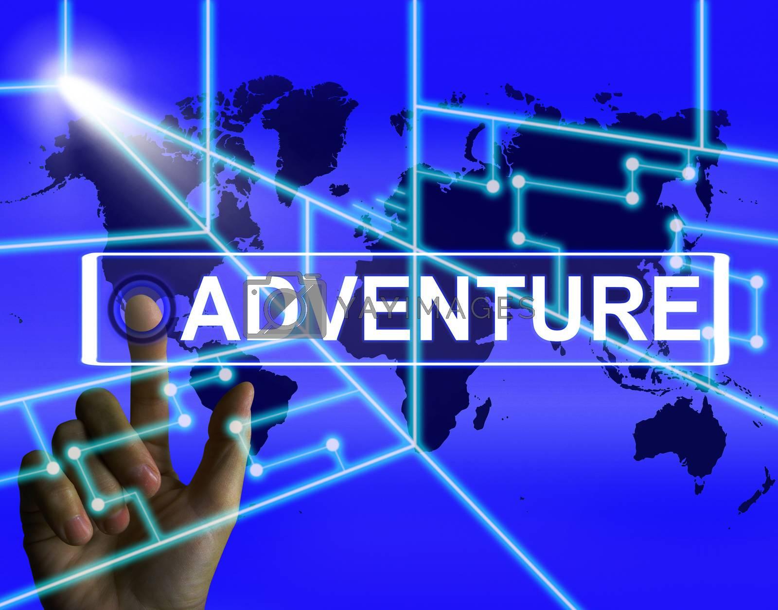 Adventure Screen Represents International or Internet Adventure  by stuartmiles