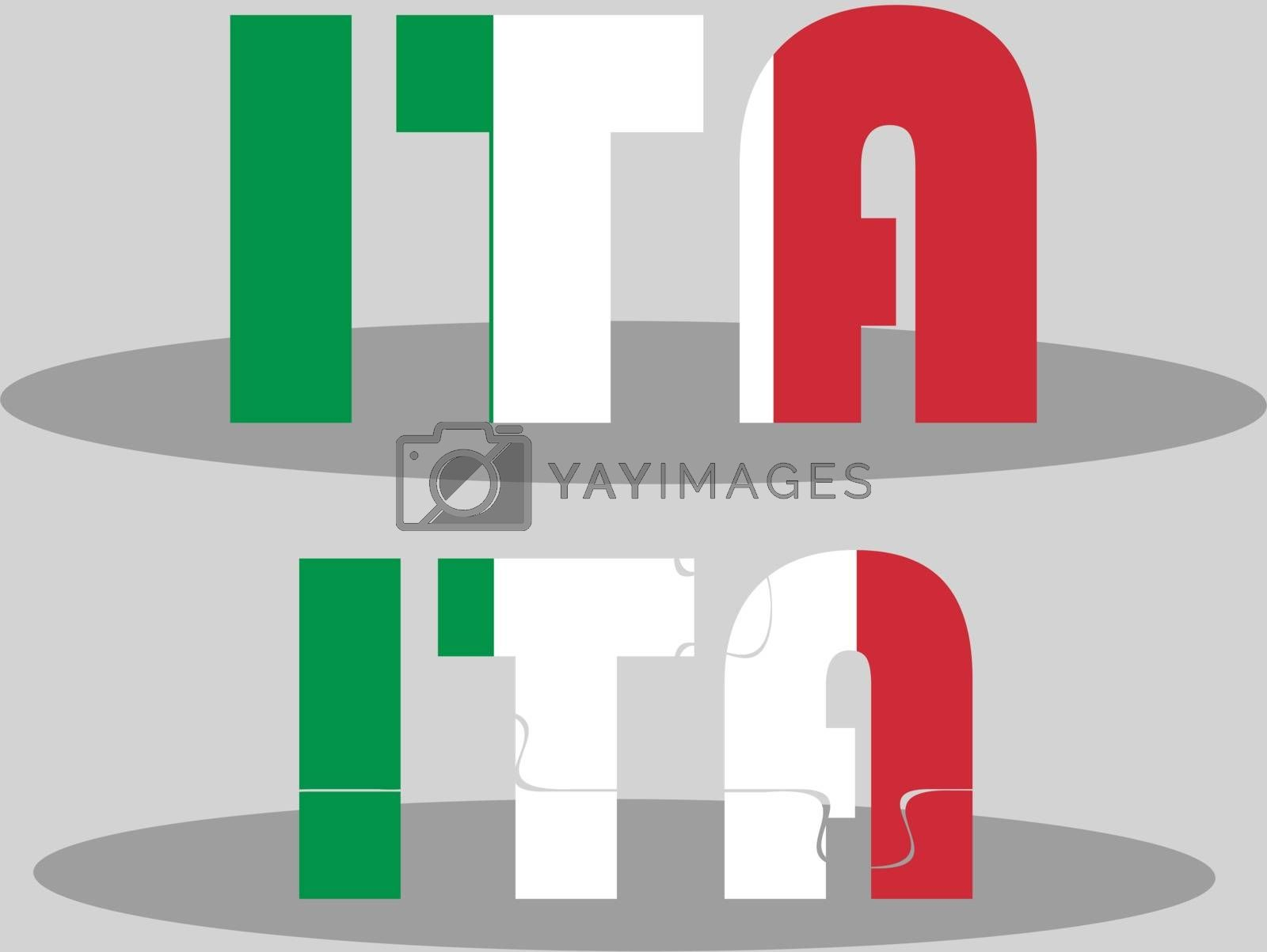 Italy Flag in puzzle by Istanbul2009