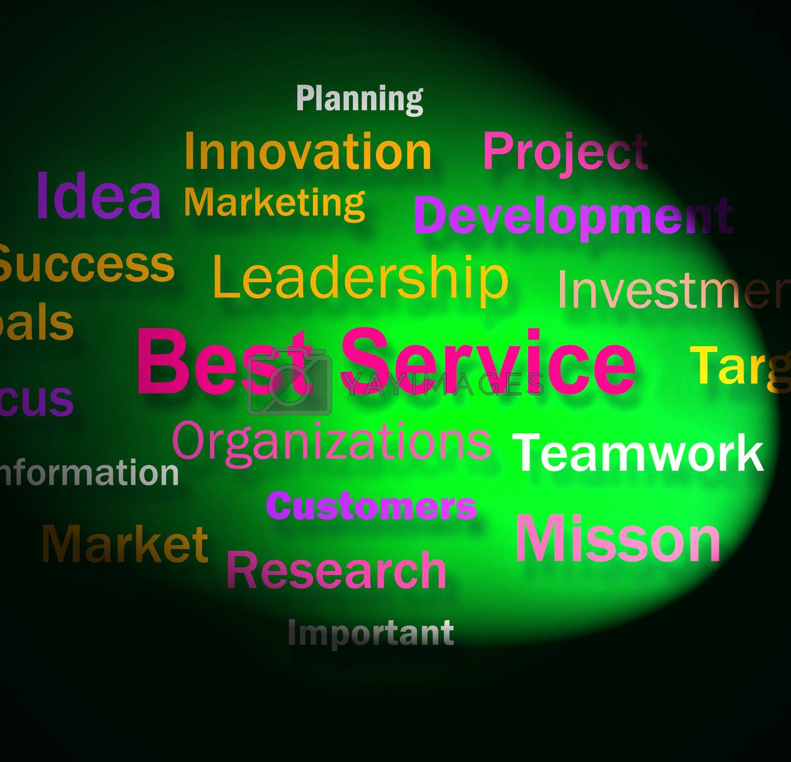 Best Service Words Shows Steps For Delivery Of Services by stuartmiles