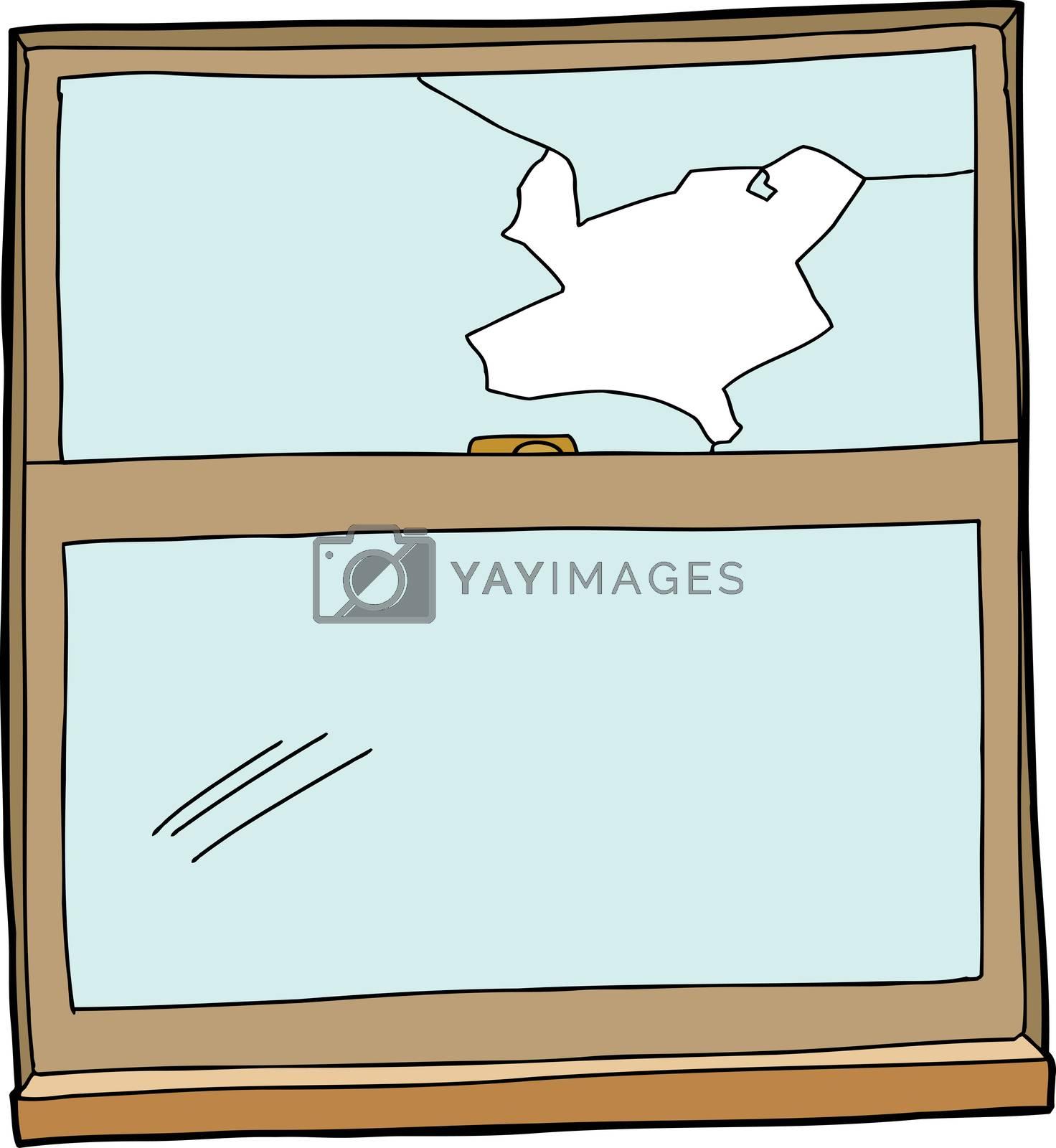 Broken Cartoon Window by TheBlackRhino
