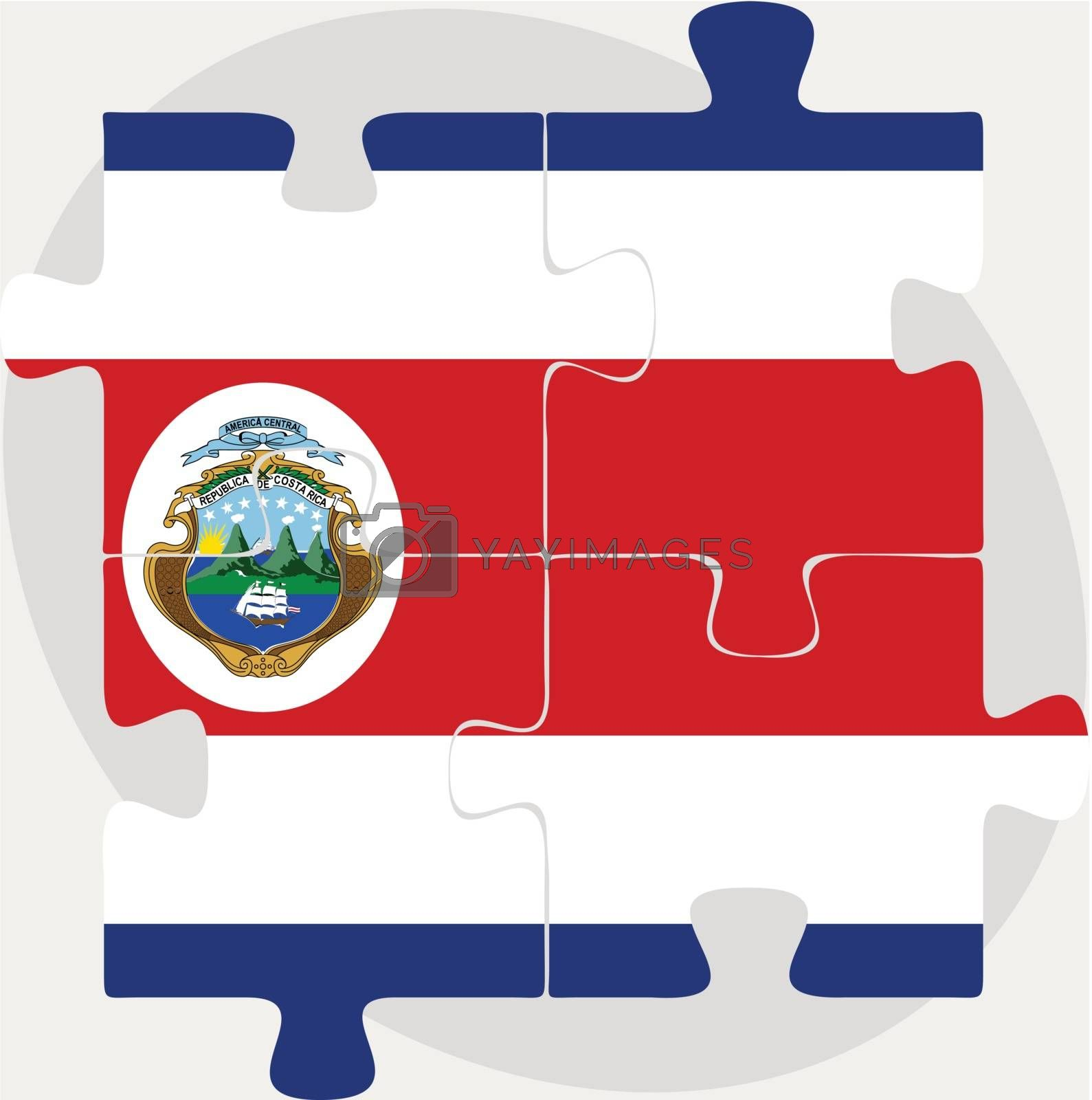 Costa Rica Flag in puzzle by Istanbul2009