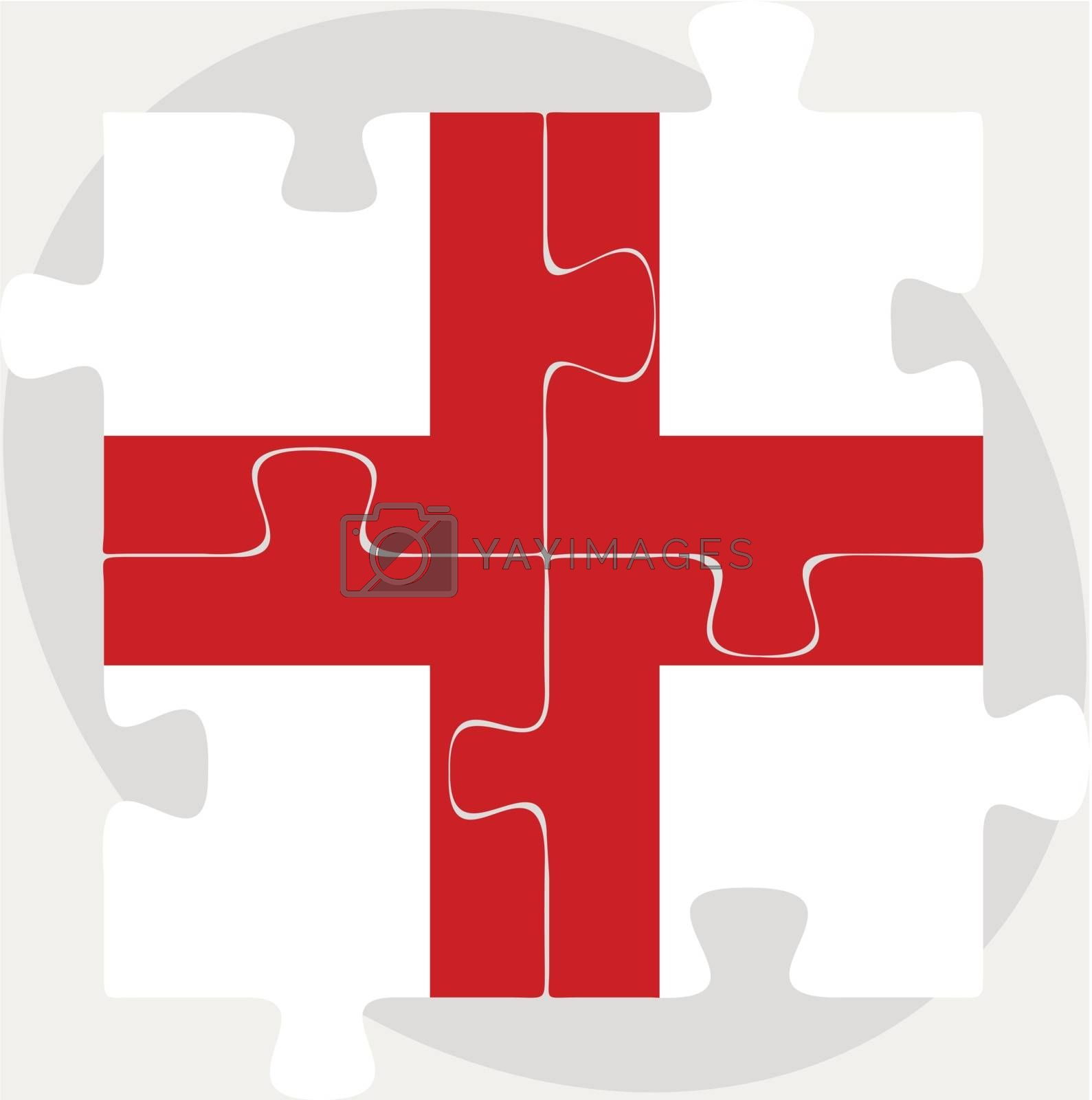England Flag in puzzle by Istanbul2009