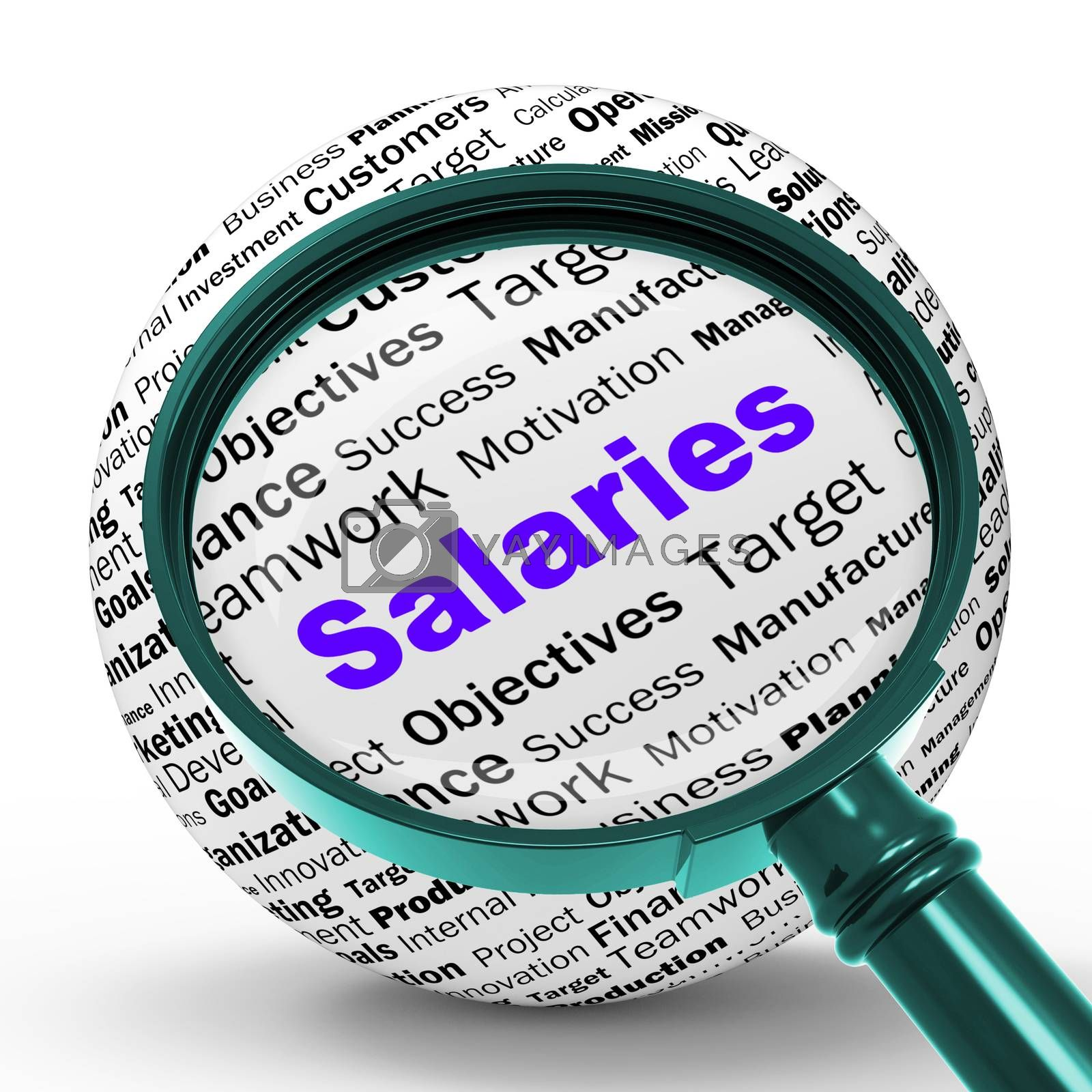 Salaries Magnifier Definition Means Employer Earnings Or Incomes by stuartmiles