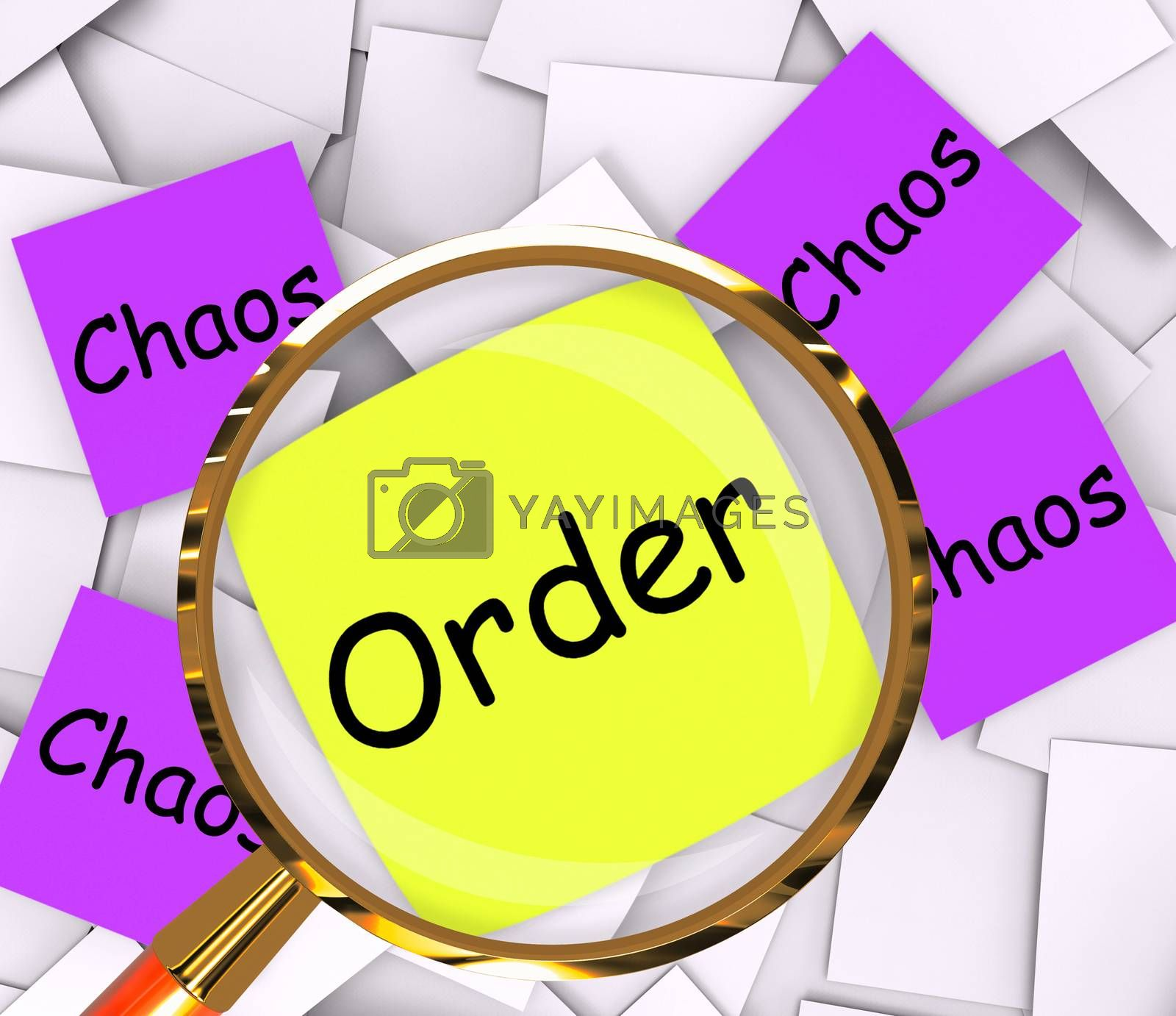 Order Chaos Post-It Papers Show Organized Or Confused by stuartmiles